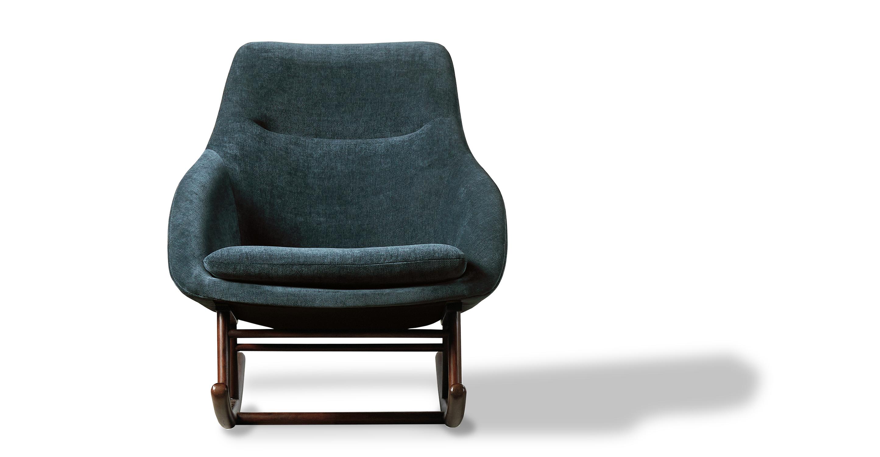 "Rocket 31"" Fabric Rocking Chair, Juhl Velvet"