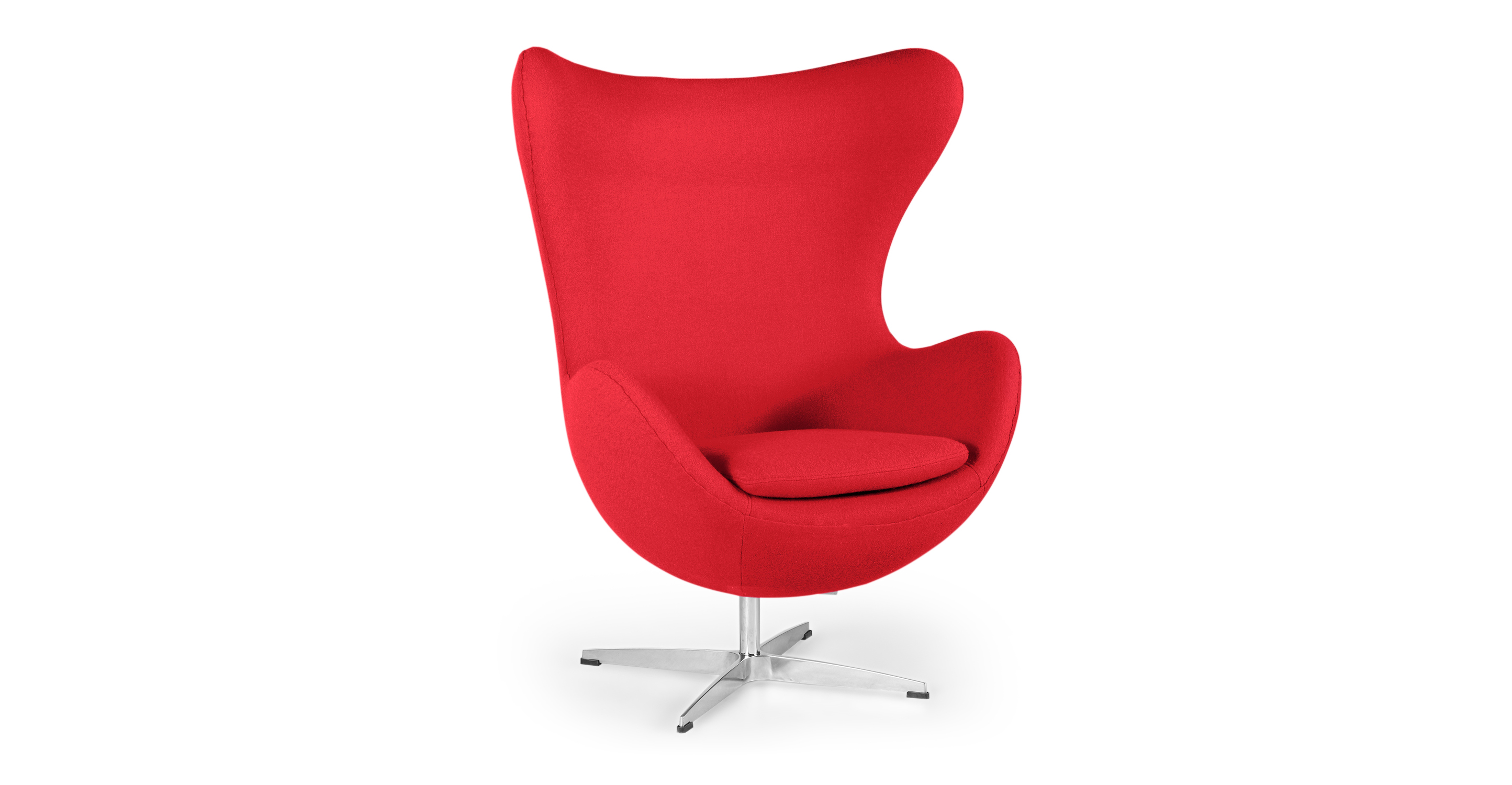 "Amoeba 35"" Swivel Fabric Chair, Cherry Red"