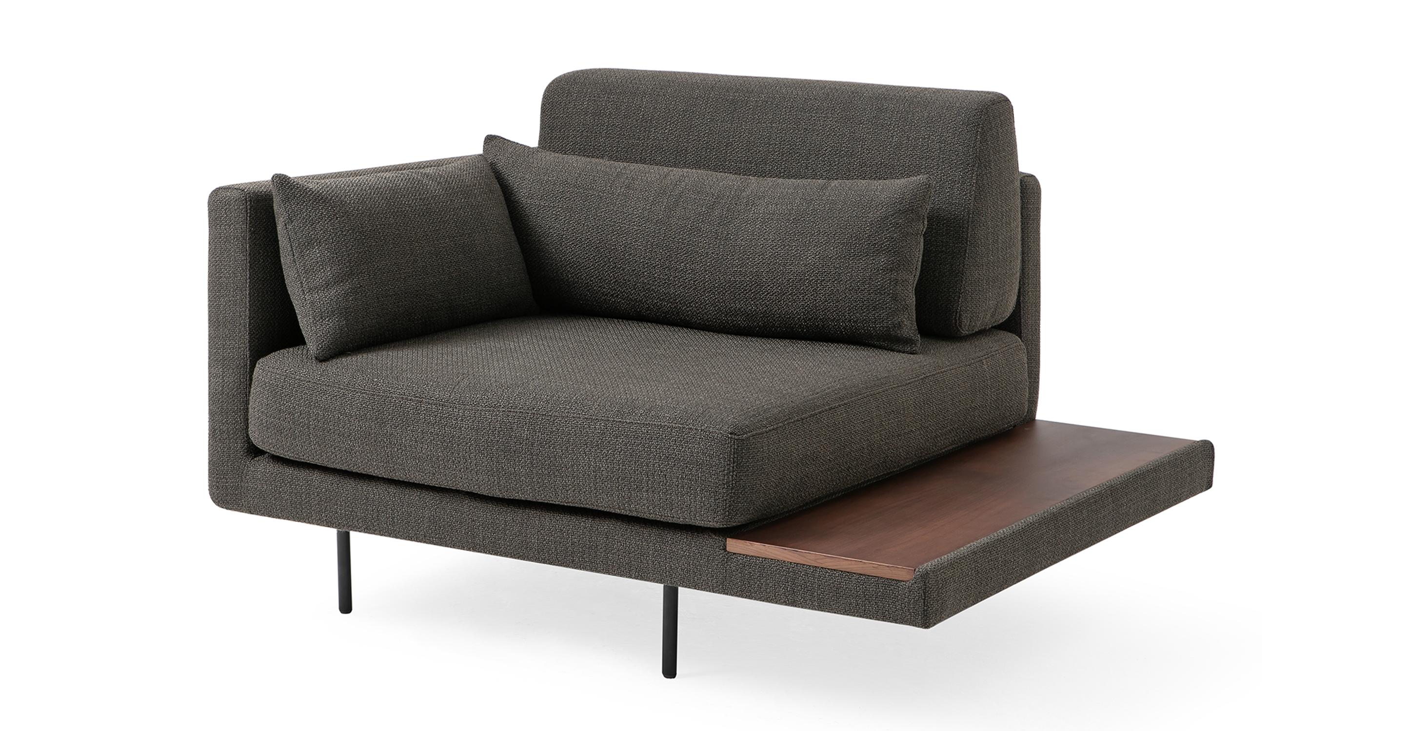 "Davenport 50"" Fabric Chair, Nuit Boucle"