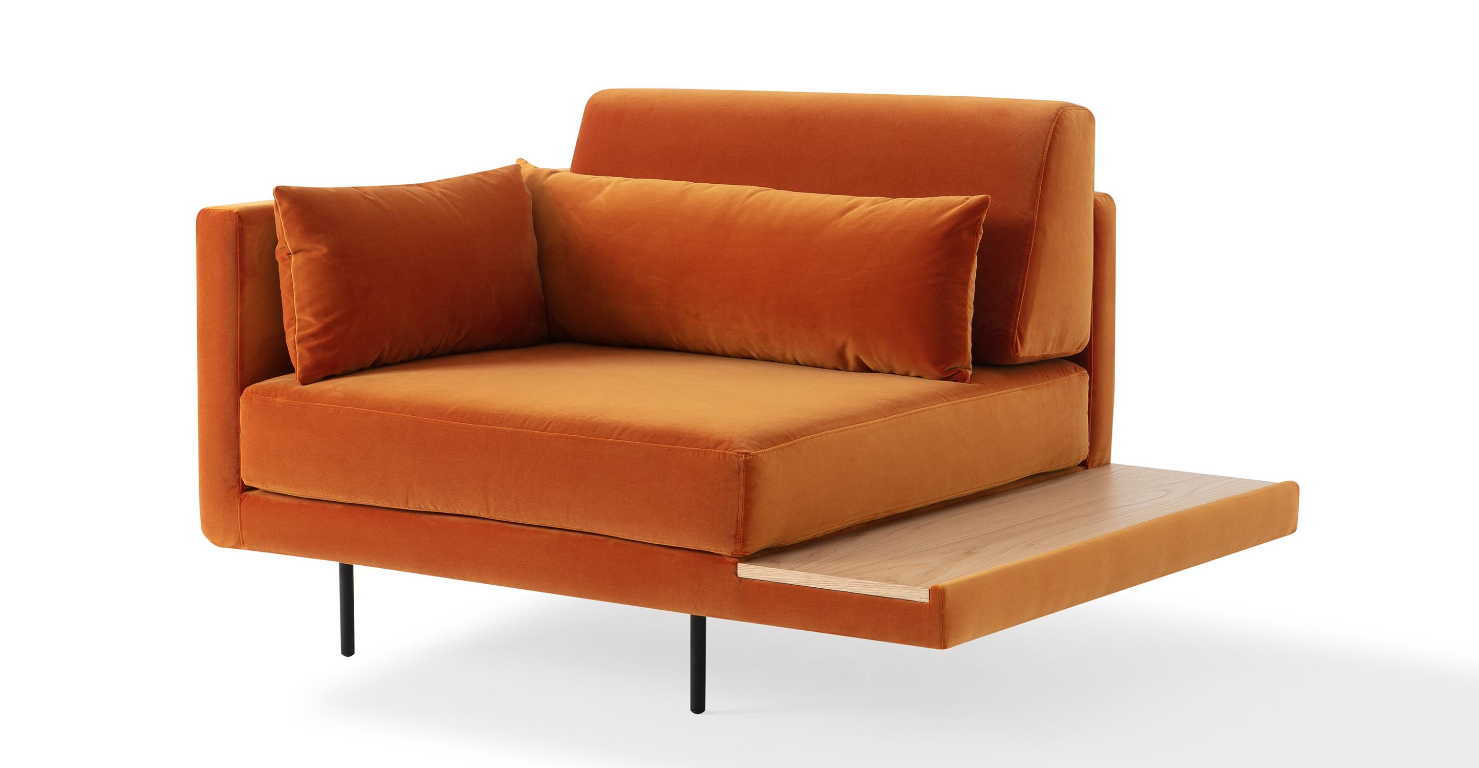 """Davenport 50"""" Fabric Chair, Monarch Velvet"""
