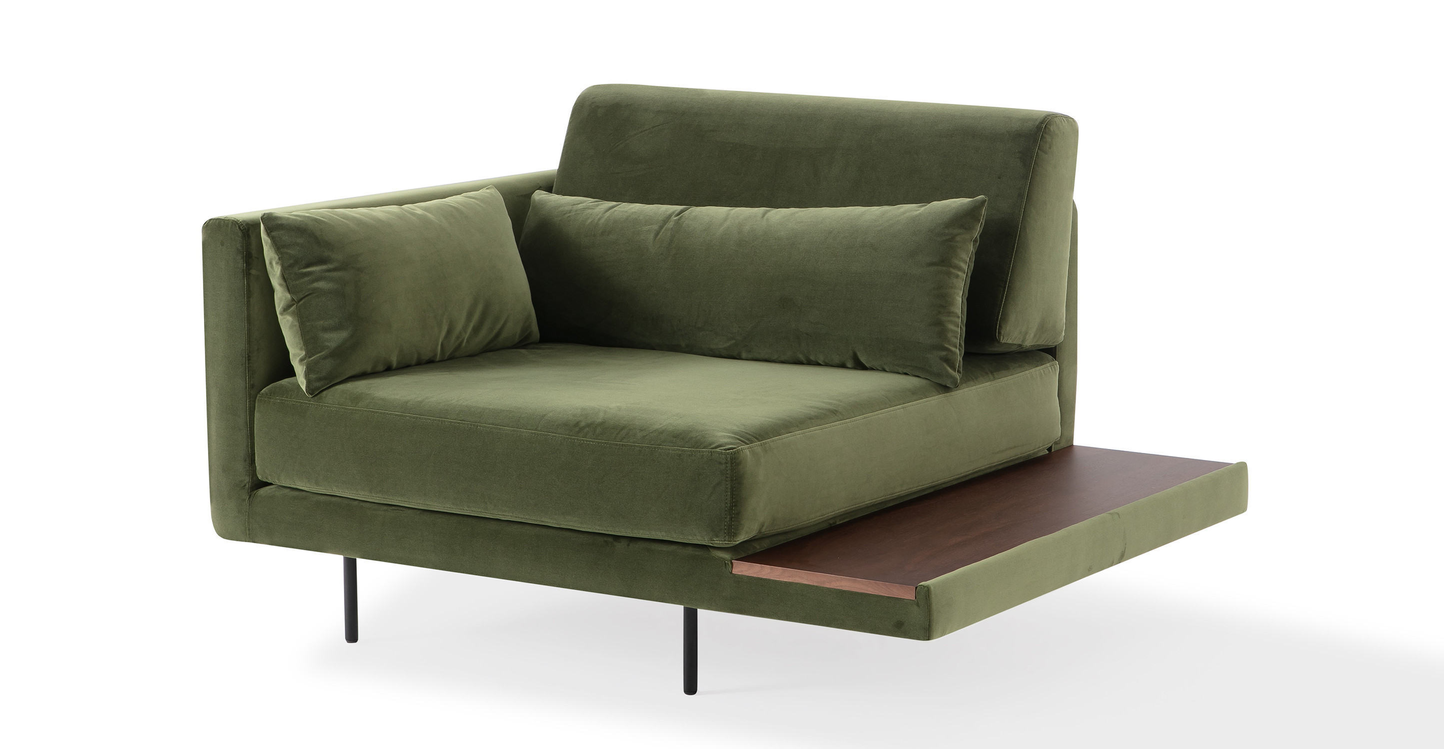 """Davenport 50"""" Fabric Chair, Fern Velvet"""