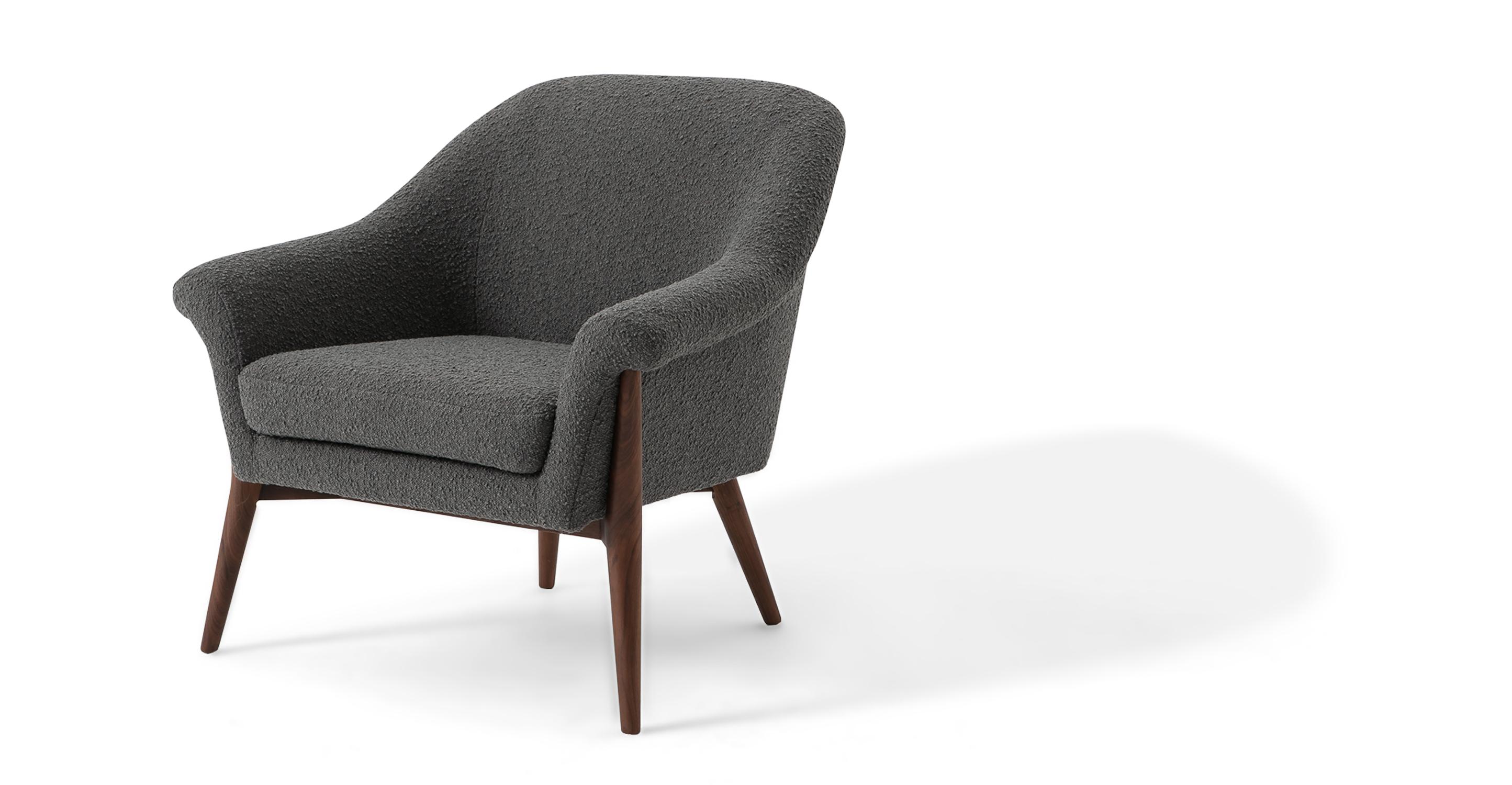 "Nexus 34"" Fabric Chair, Gris Boucle"