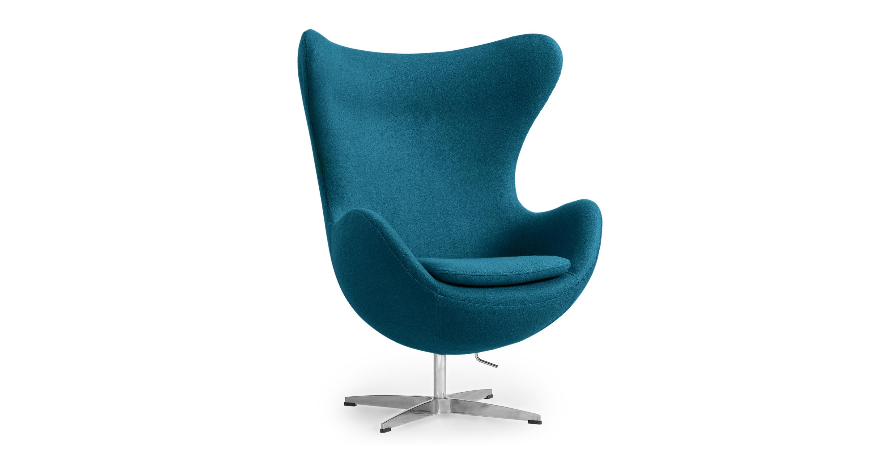 "Amoeba 35"" Swivel Fabric Chair, Caribbean"