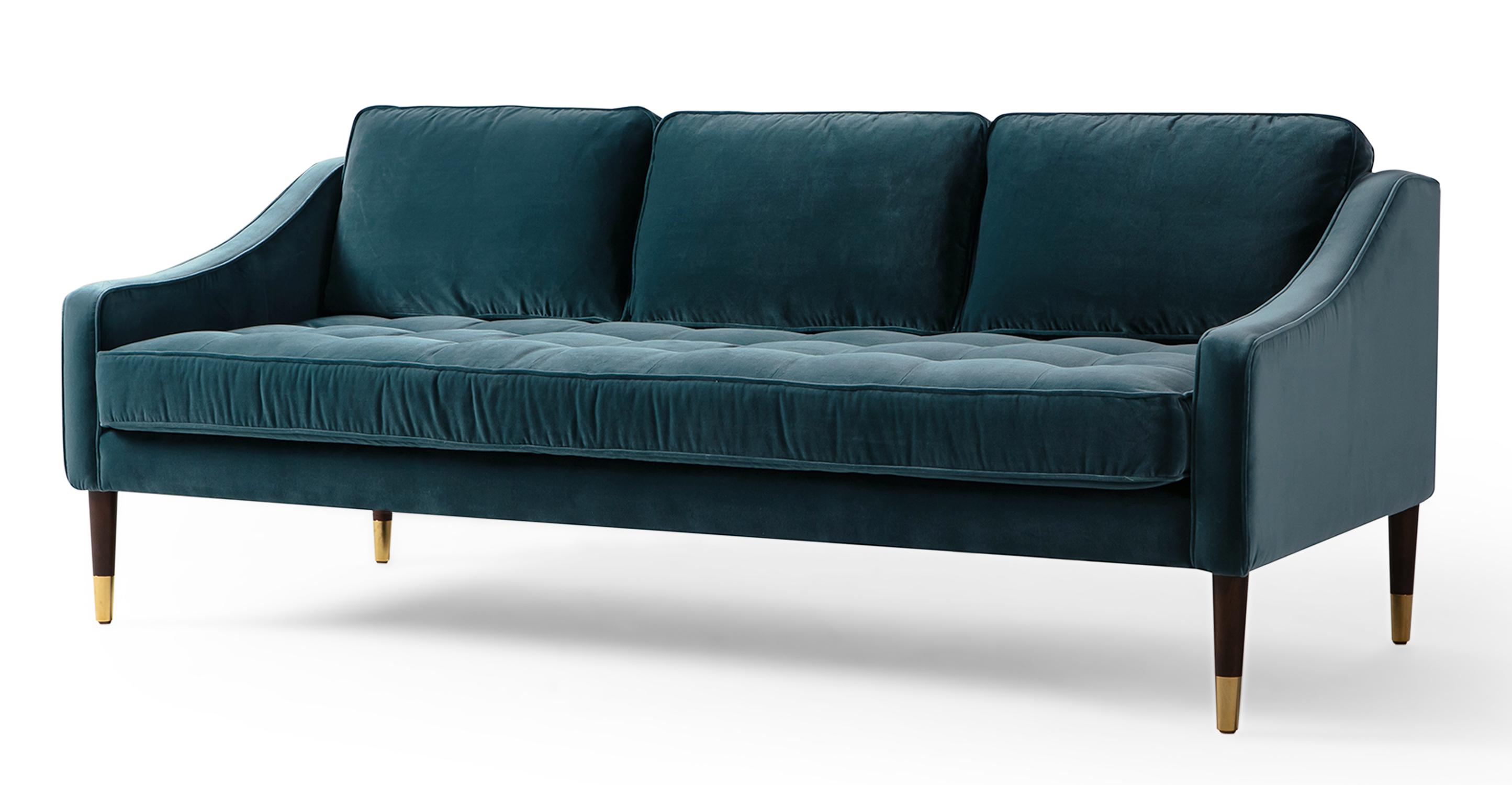 "Brando 74"" Fabric Sofa, Tranquil Velvet"