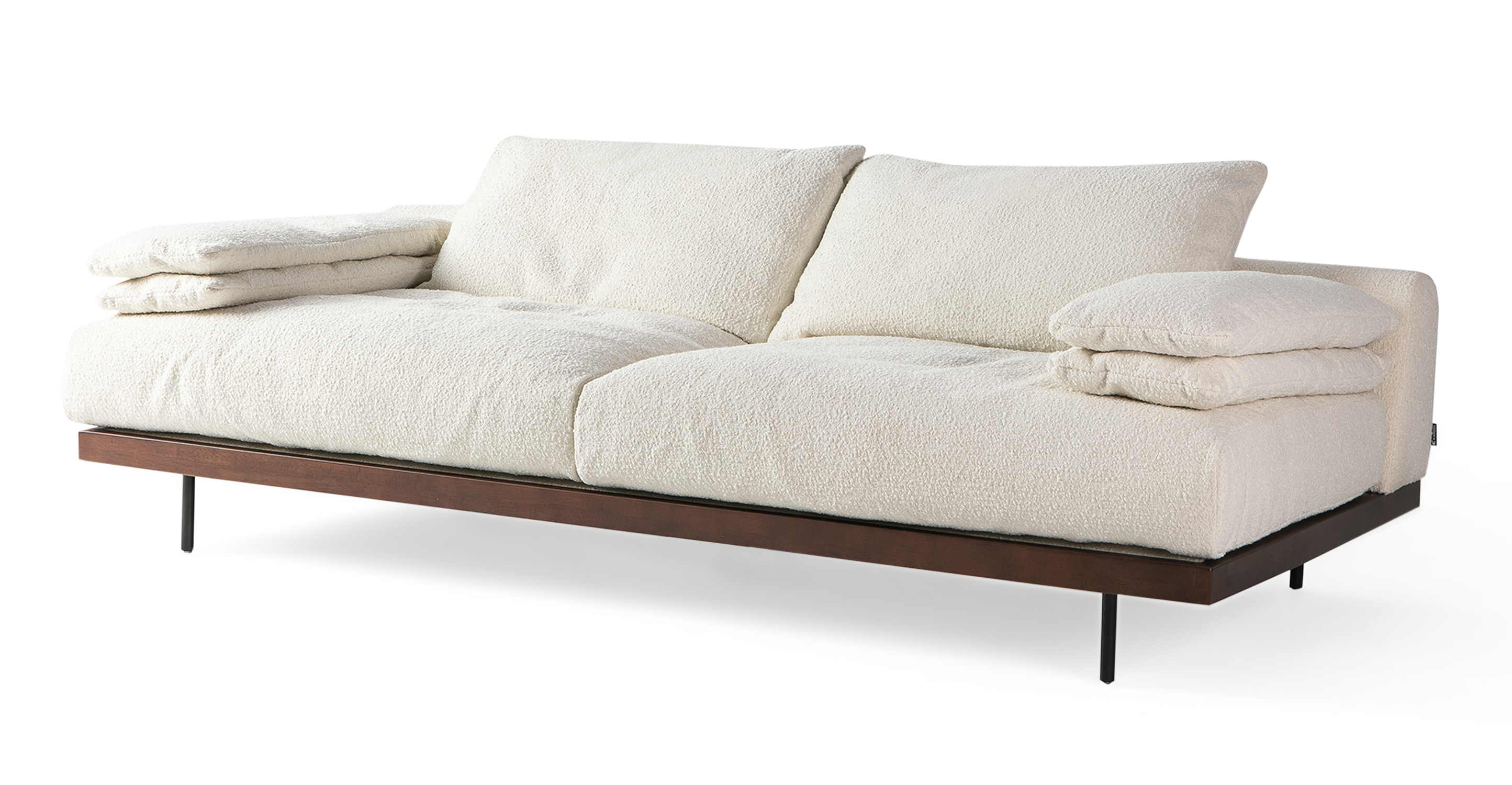 "Malibu 91"" Fabric Sofa Sleeper, Cream Boucle"