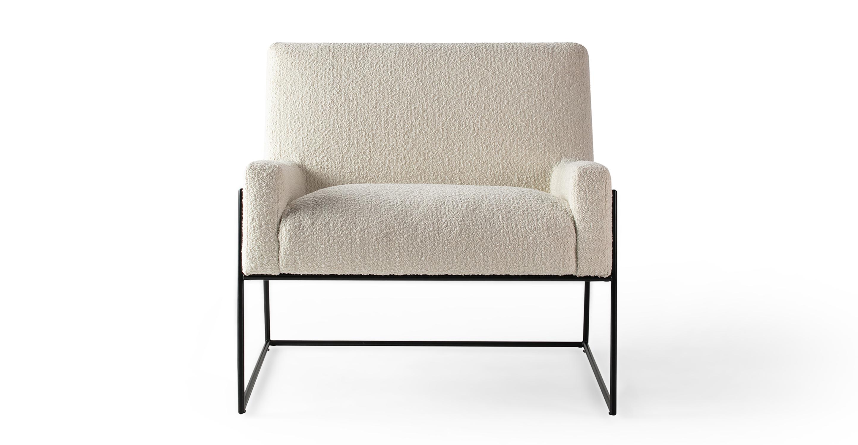 "Suspend 30"" Fabric Chair, Cream Boucle"