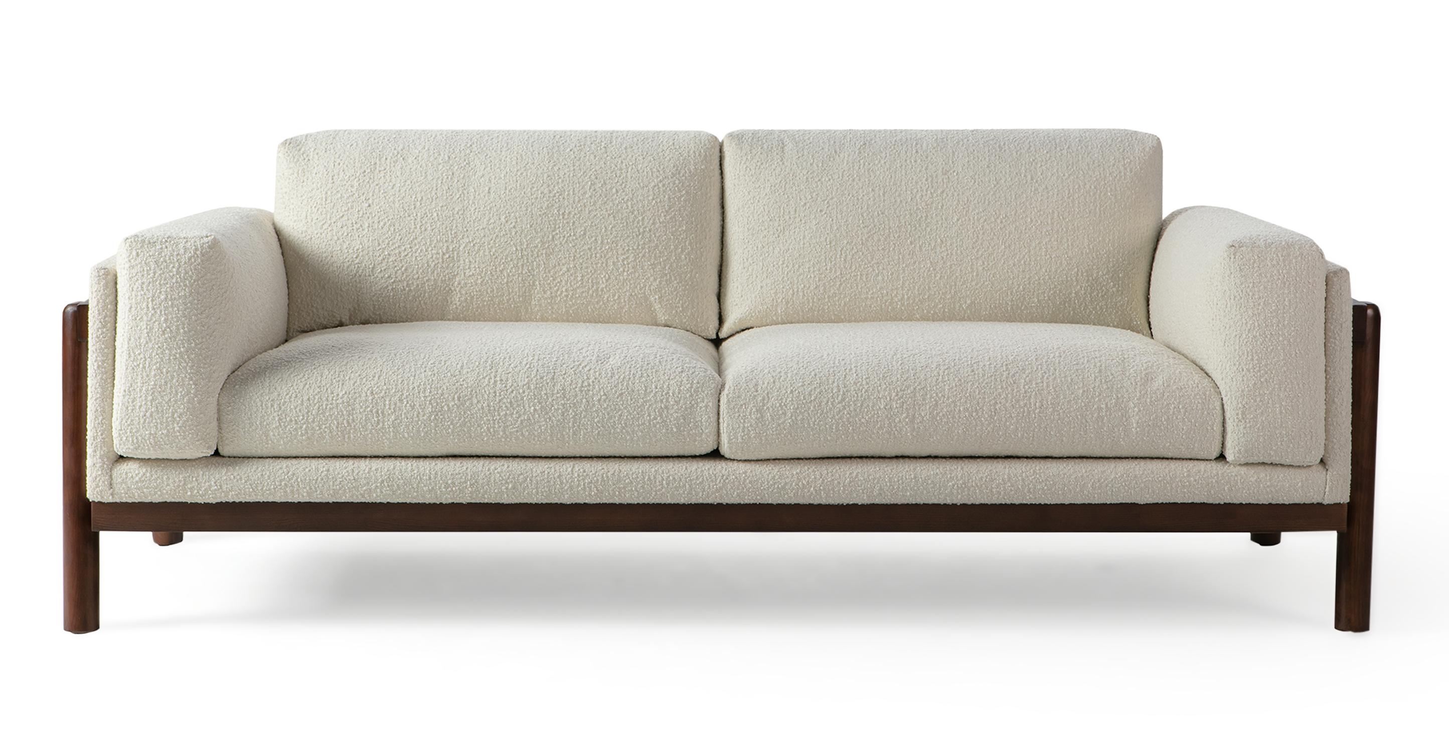 "Nordic 82"" Fabric Sofa, Cream Boucle"