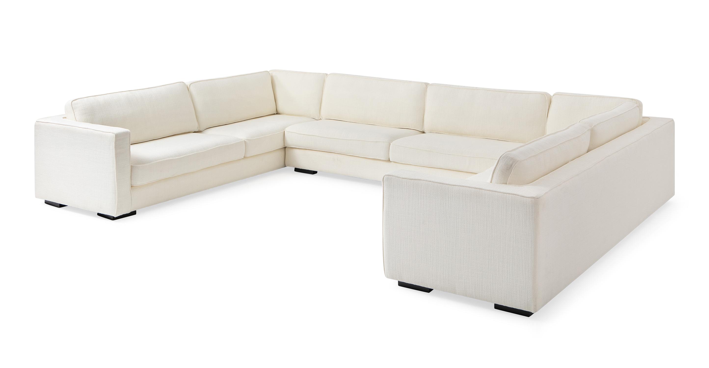"Architect 156"" Fabric U-Sofa Sectional, Jour Boucle"