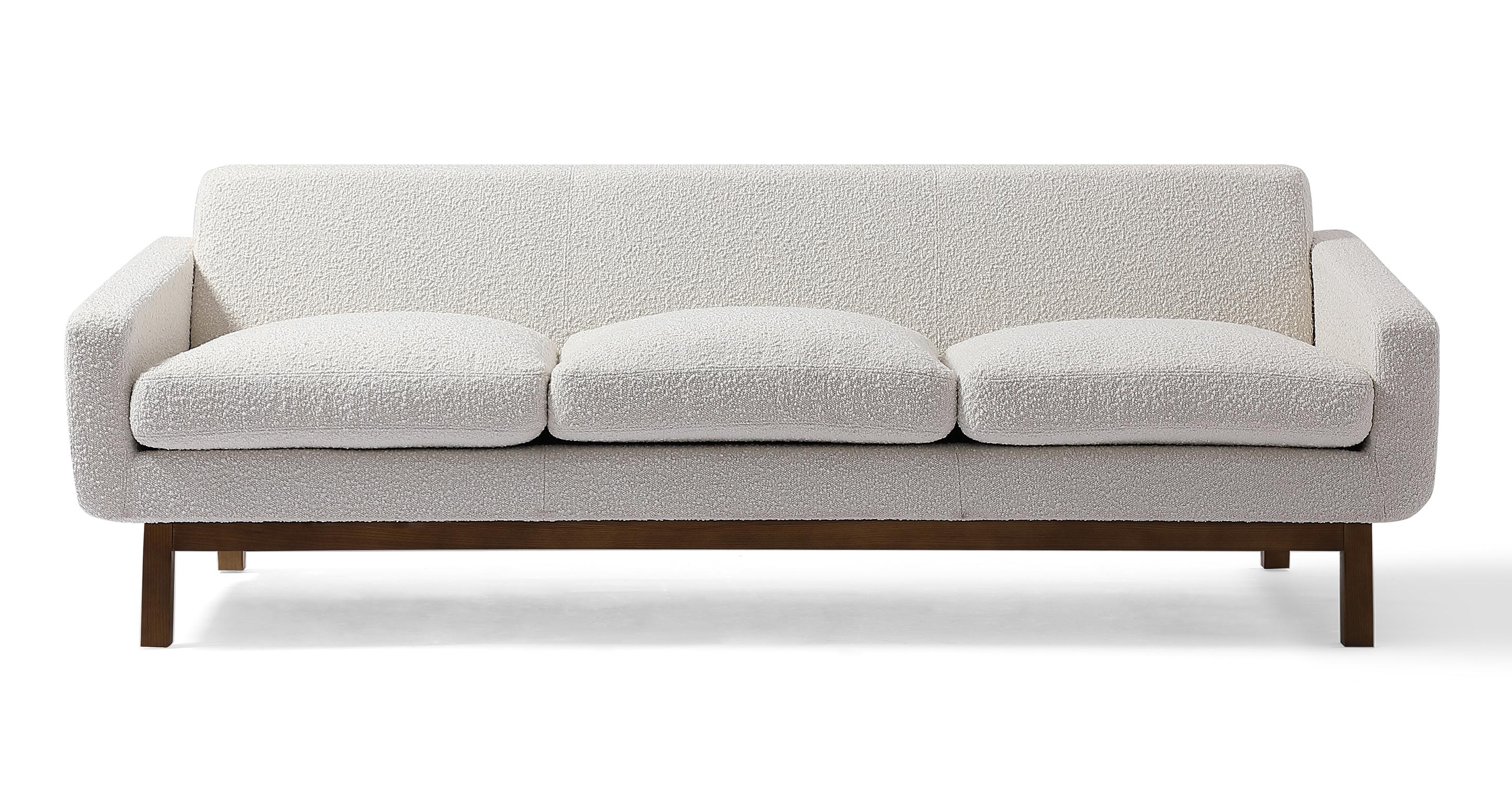 "Platform 80"" Fabric Sofa, Walnut/Blanc Boucle"