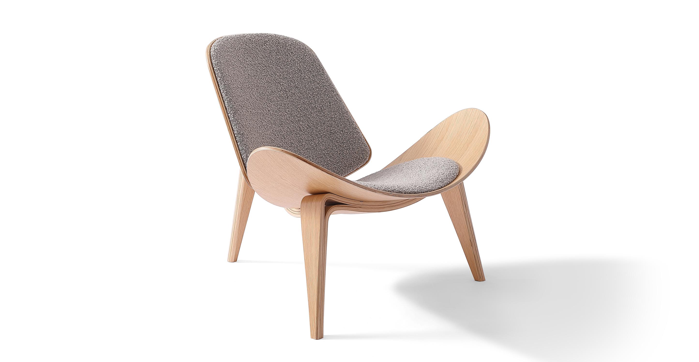 "Tripod 36"" Fabric Chair, Bocce Boucle"