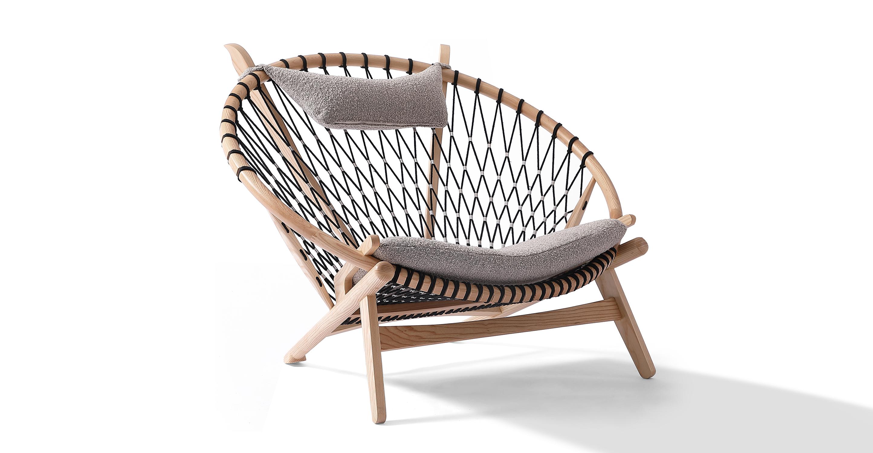 "Circle 45"" Hoop Chair, Ash/Bocce Boucle"