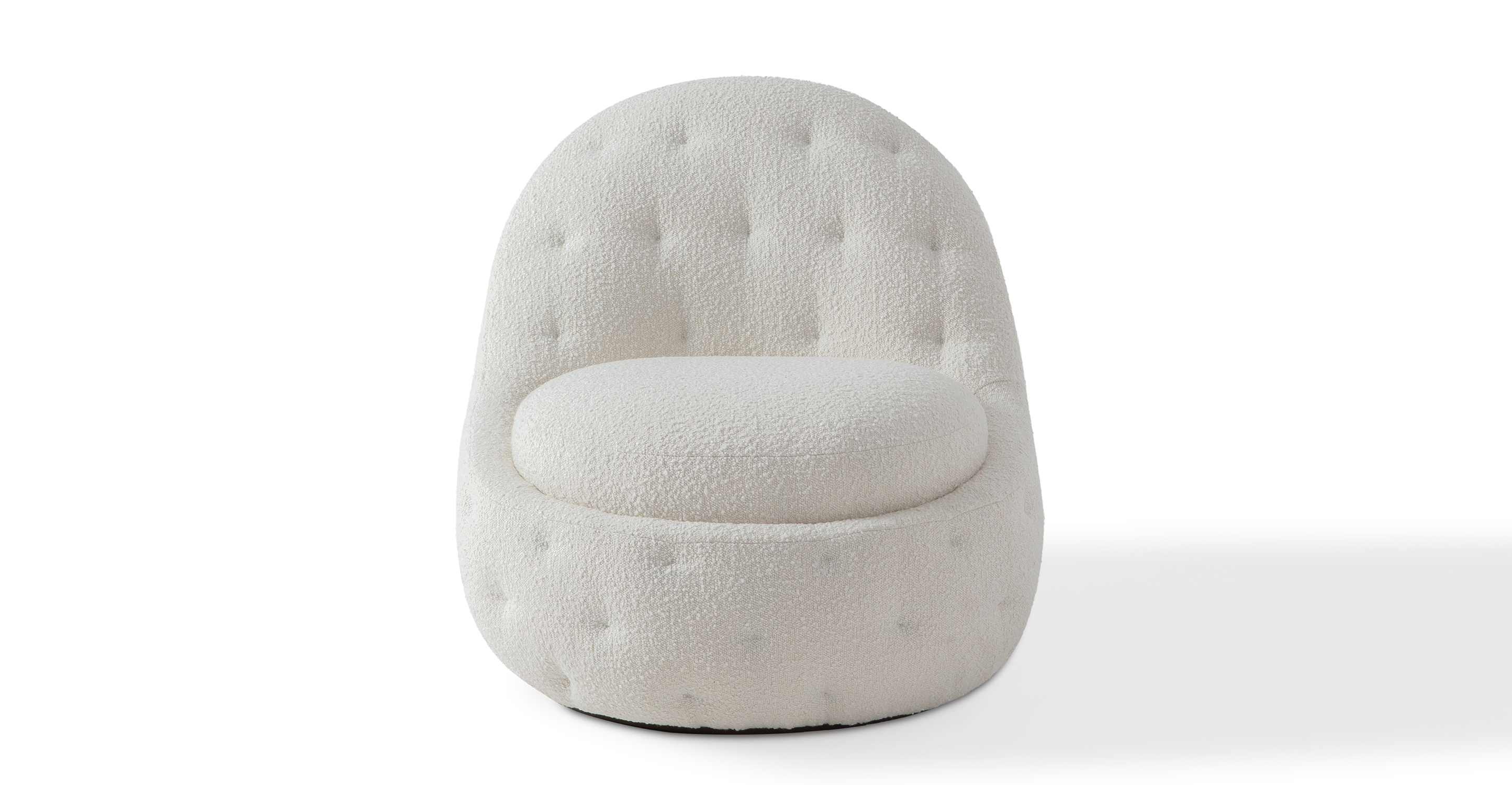 "Glove 30"" Fabric Chair, Blanc Boucle"