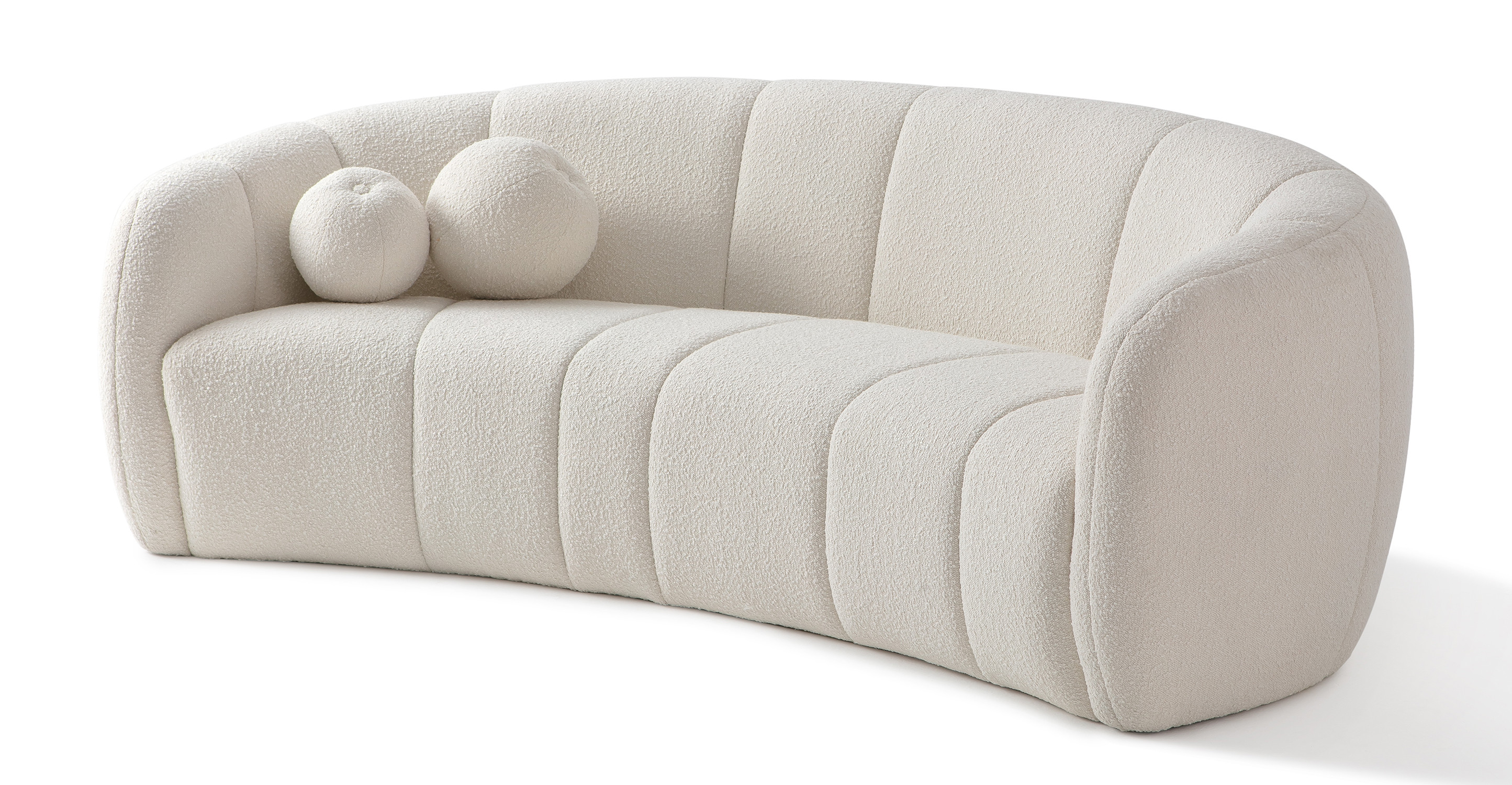 "Alexis 89"" Fabric Sofa, Blanc Boucle"
