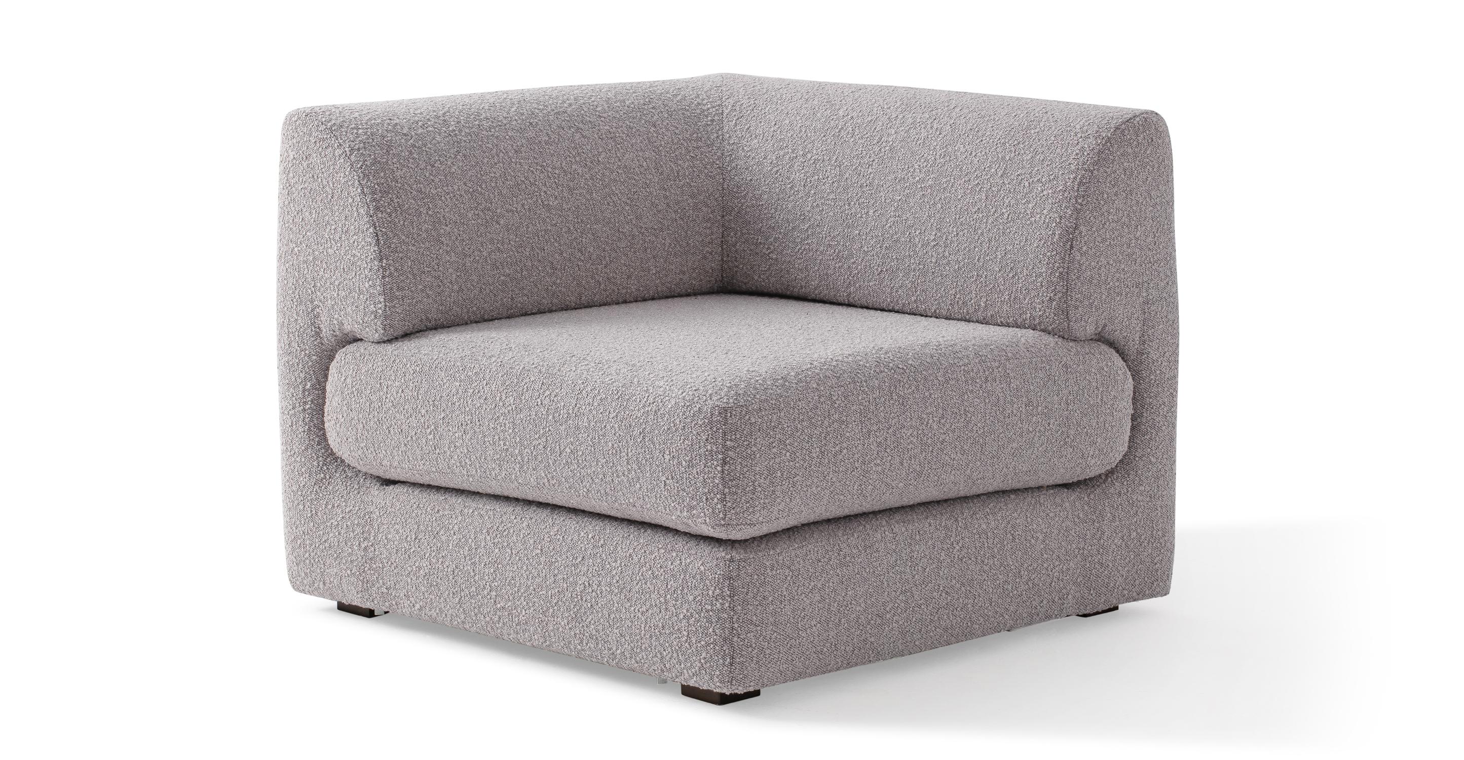 "Shelter Modular 36"" Fabric Corner Seat, Bocce Boucle"