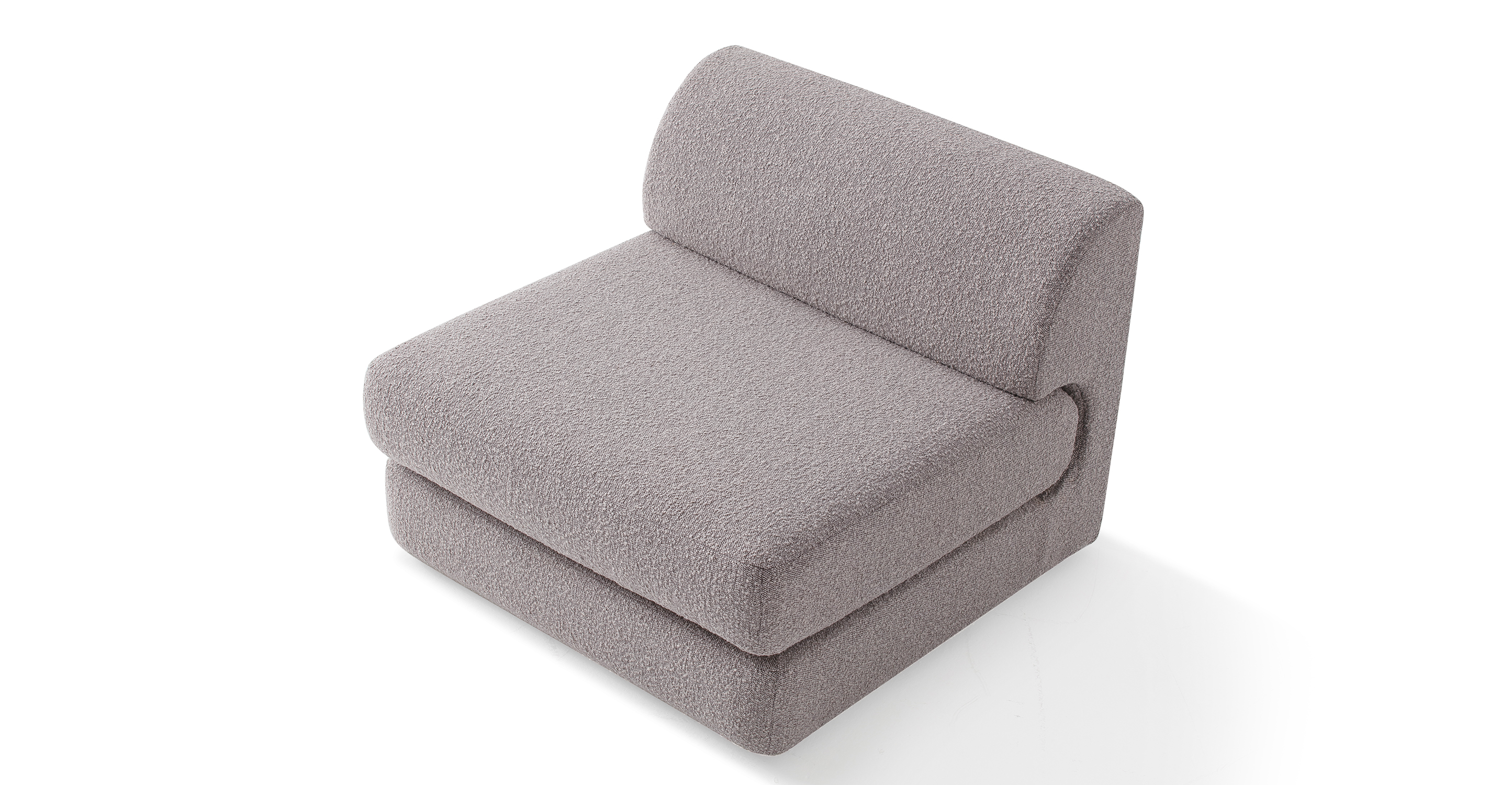 """Shelter Modular 36"""" Armless Middle Seat, Bocce Boucle"""