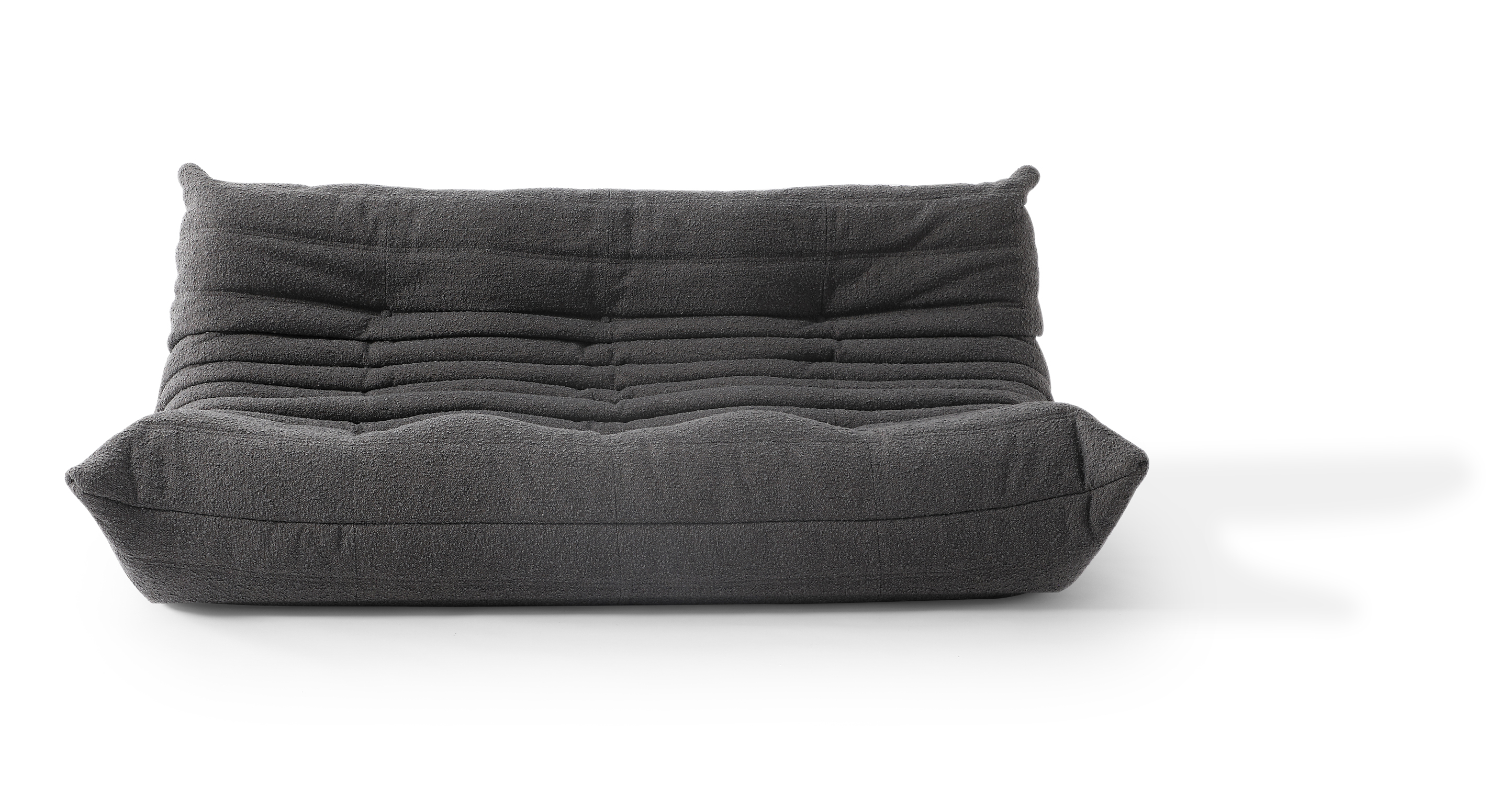 "Louvre 70"" Fabric 3-Seat Sofa, Gris Boucle"