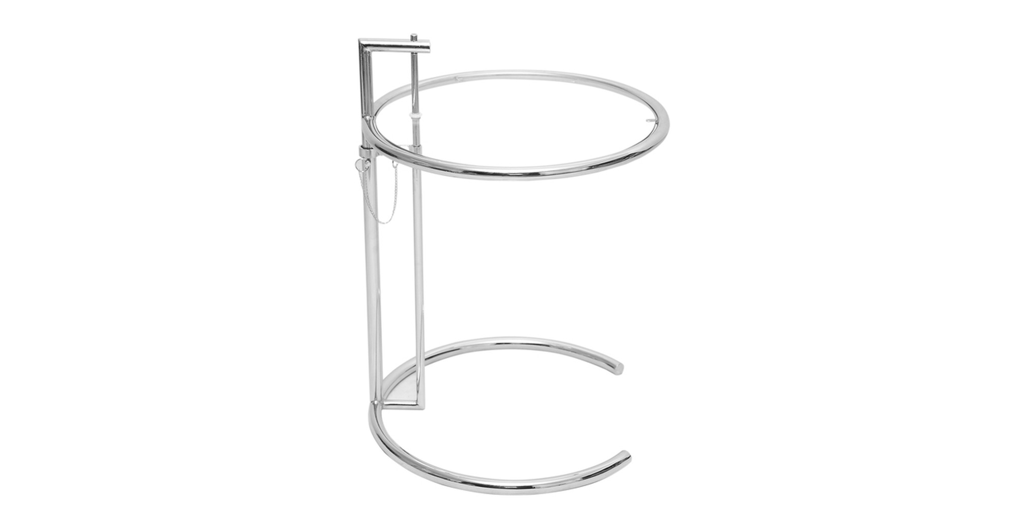 E-Gray Adjustable Side Table, Chrome