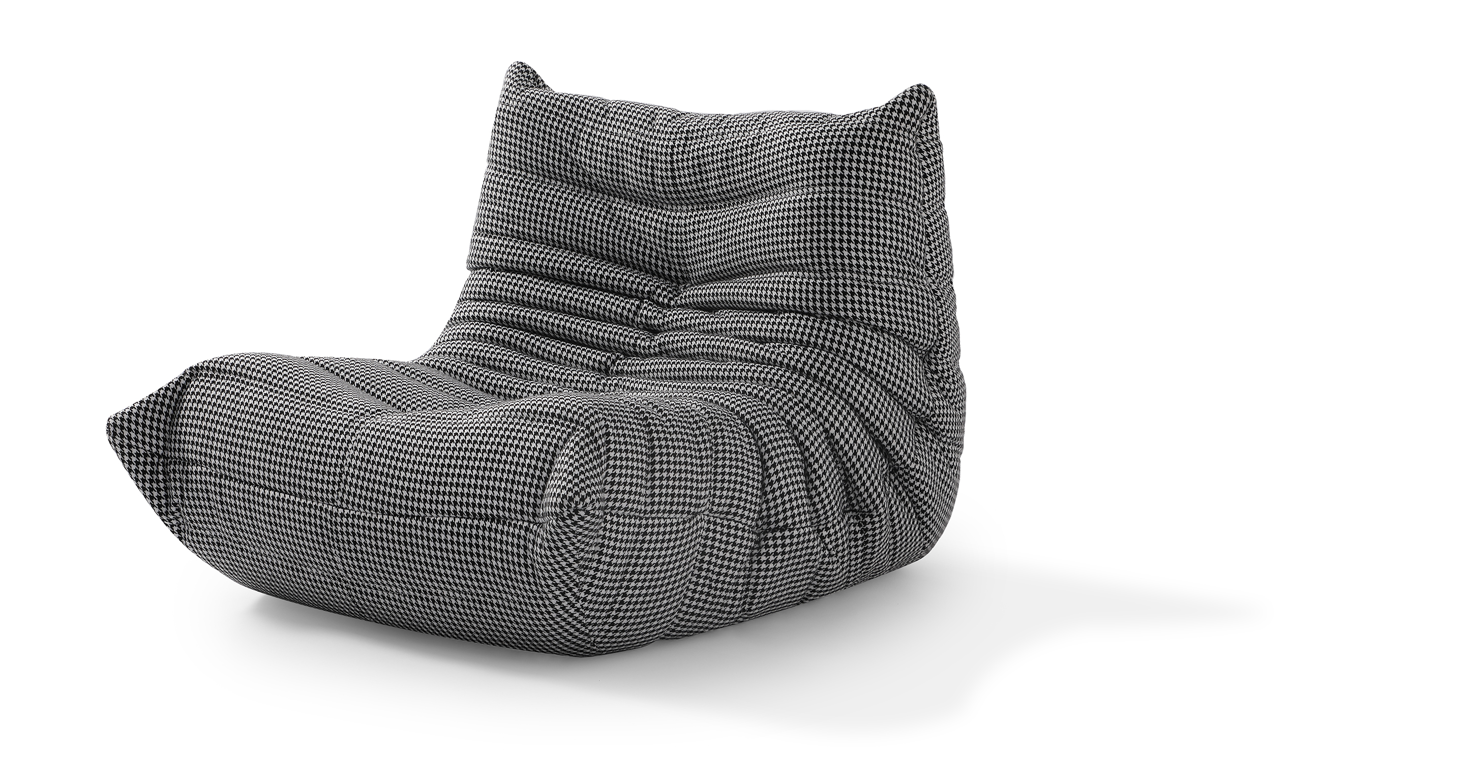 """Louvre 35"""" Fabric Chair, Houndstooth"""