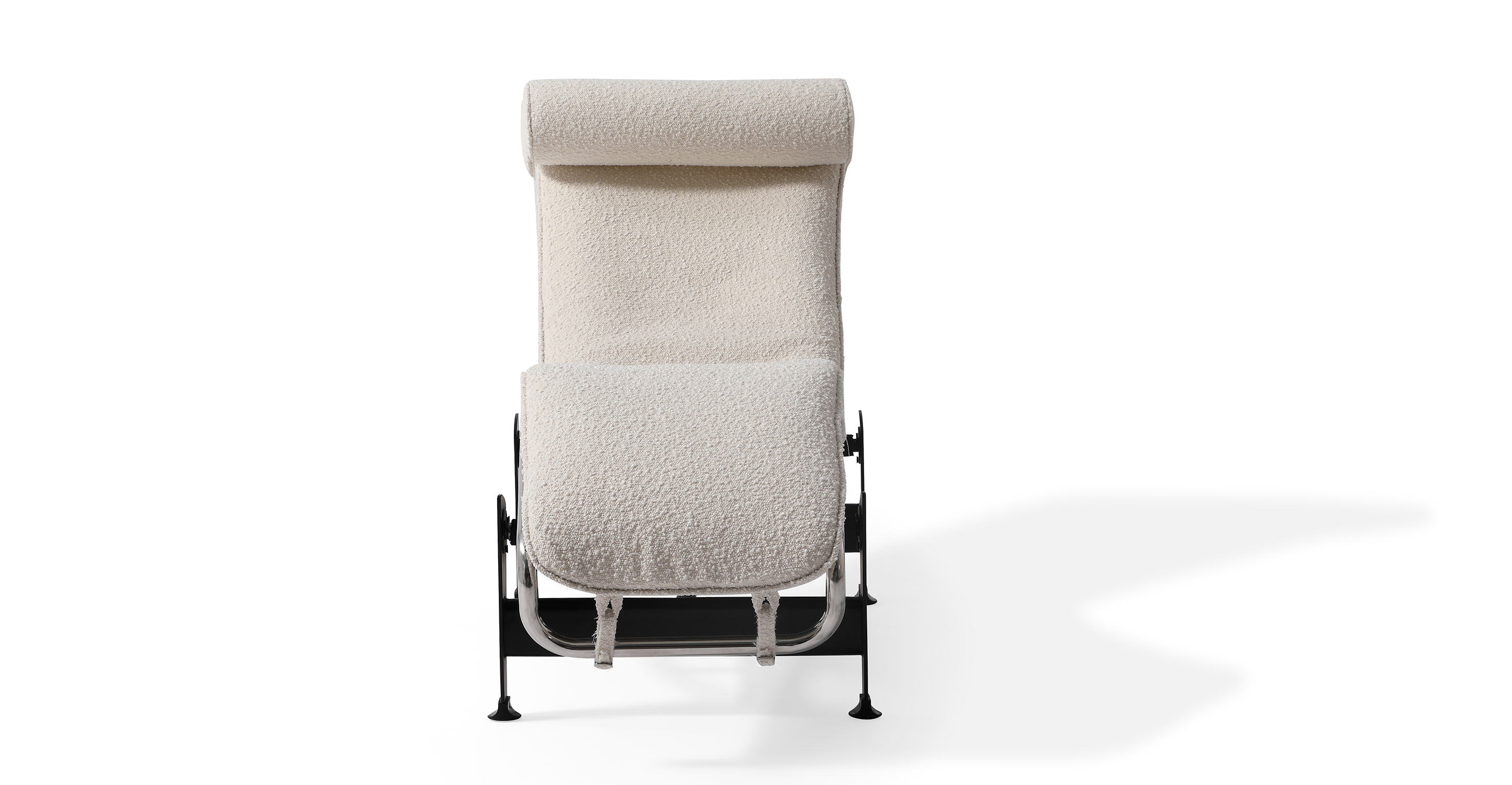 Gravity Chaise Lounge, Blanc Boucle