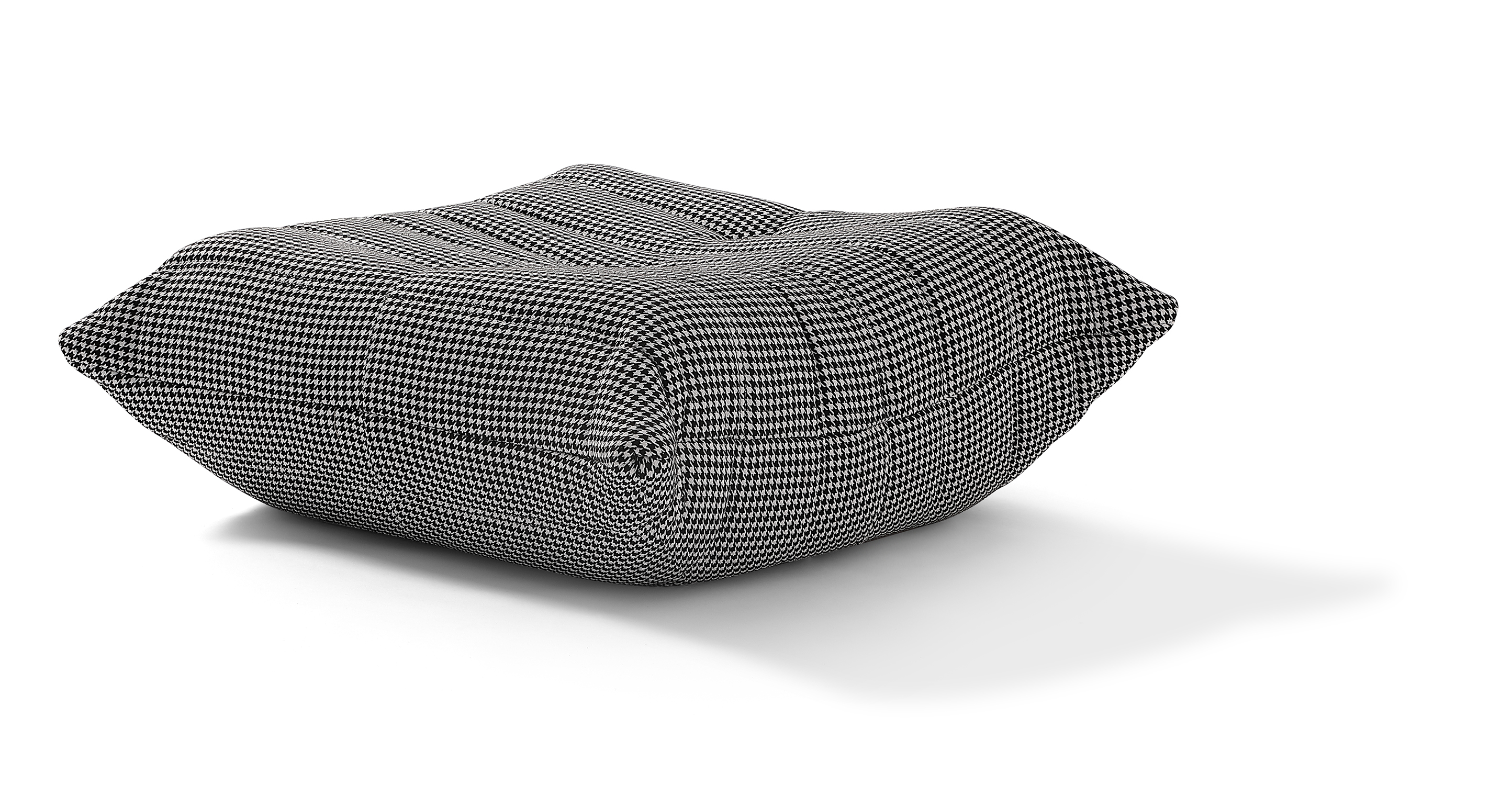 "Louvre 34"" Fabric Ottoman, Houndstooth"