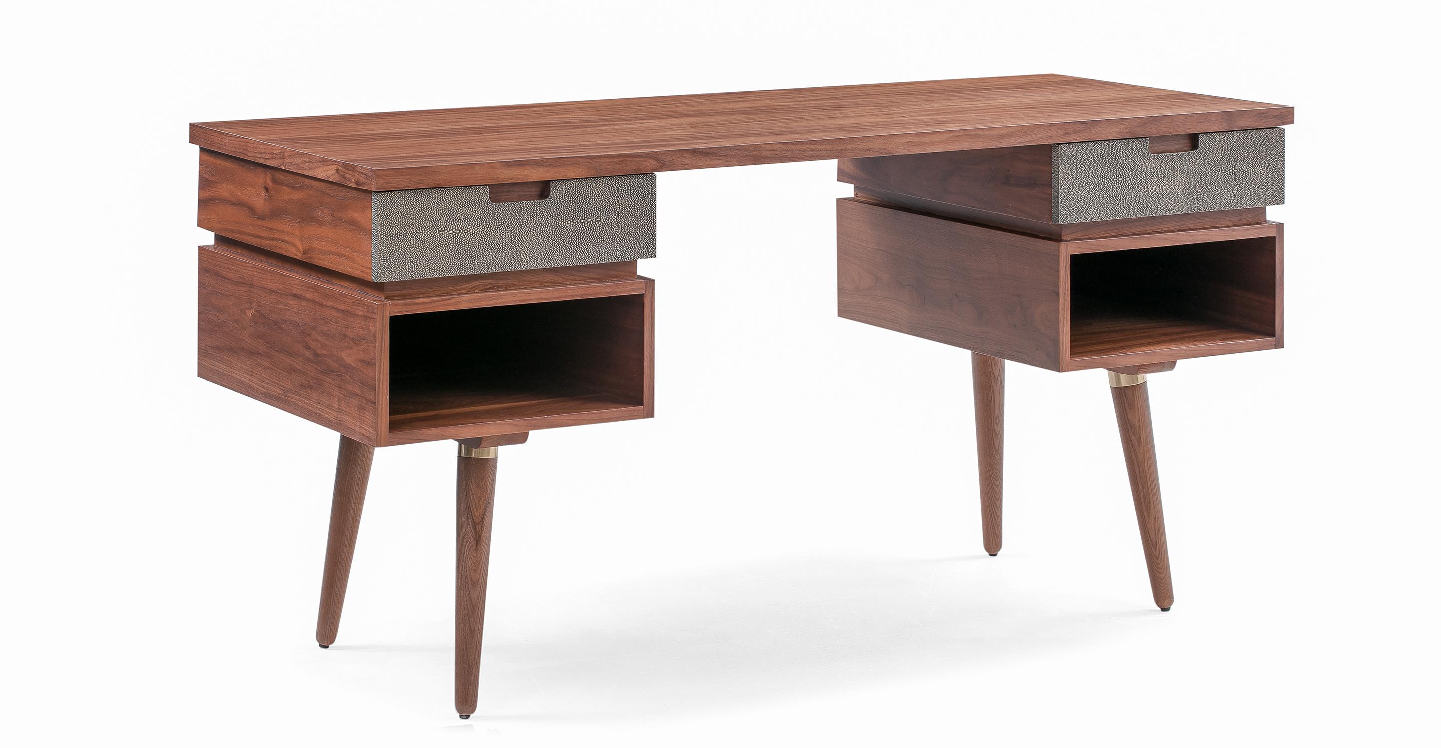 "Dream 59"" Desk, Walnut"