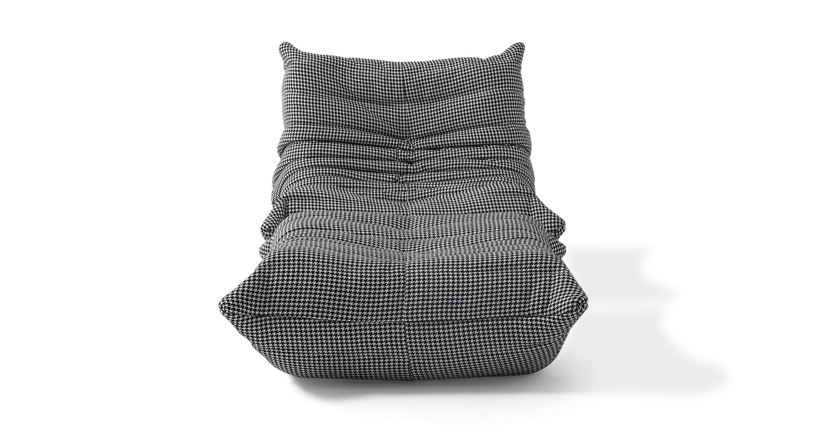Louvre Fabric Chair & Ottoman, Houndstooth