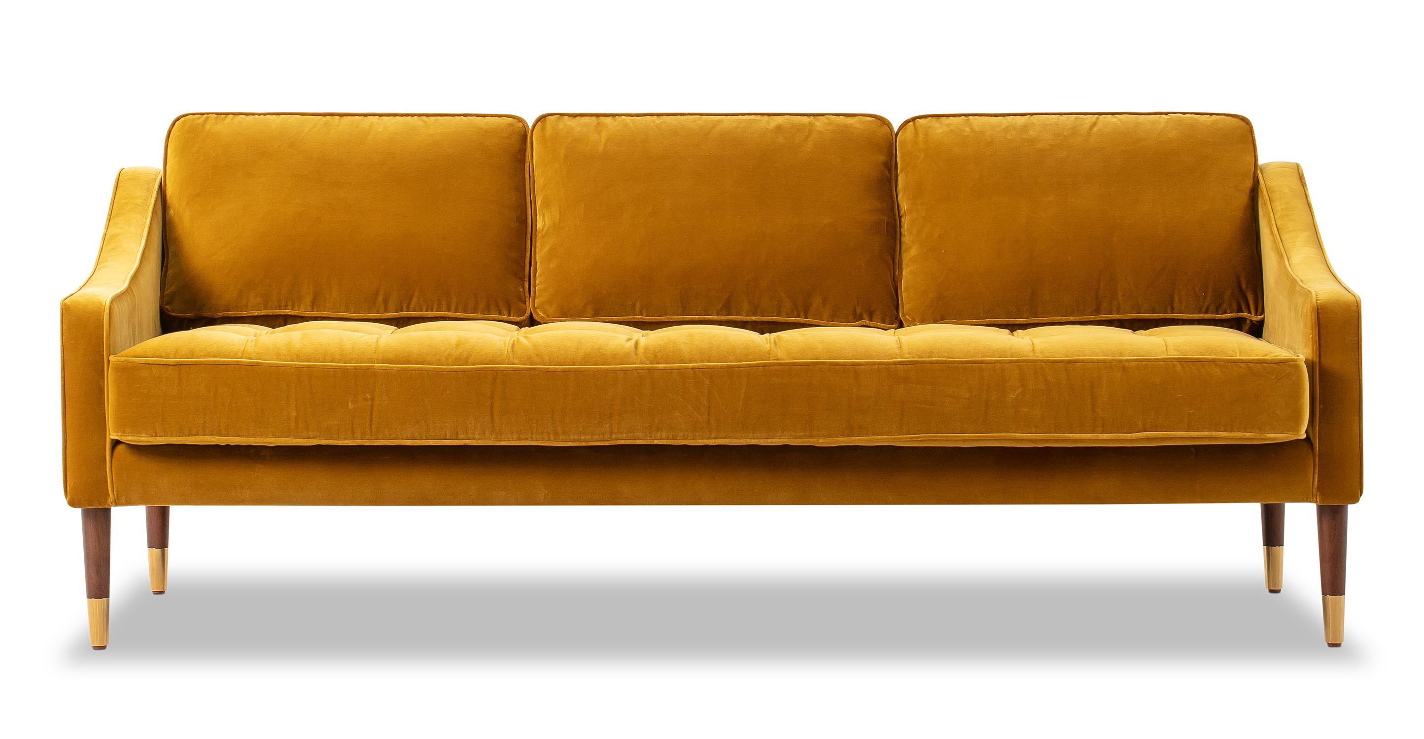 """Brando 74"""" Fabric Sofa, Glimmer Velvet"""