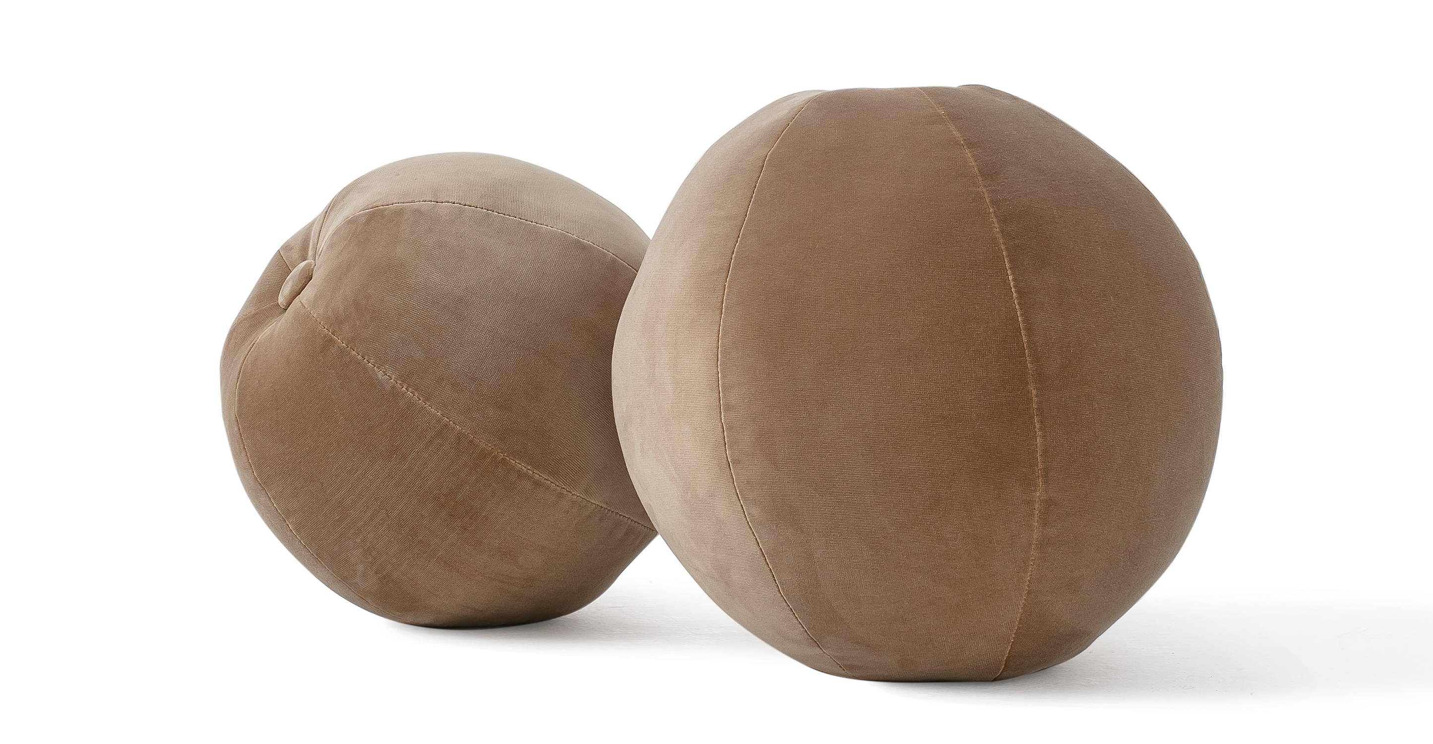 Mid-Century 2-Pc Orb Pillows, Sand Velvet