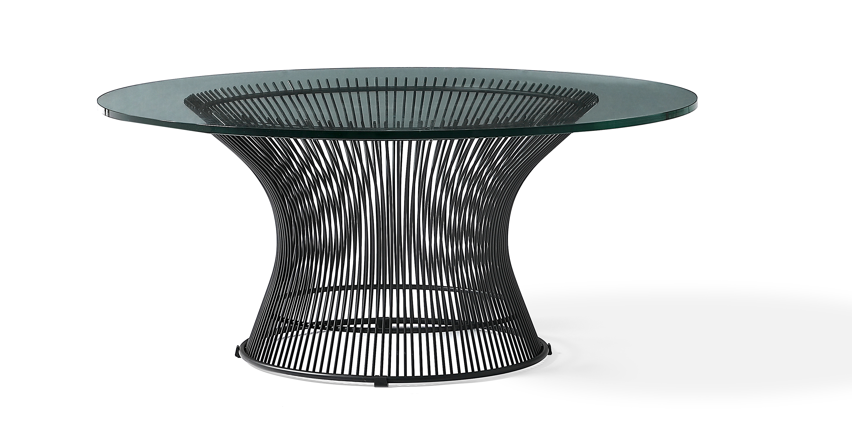 "Platner 36"" Coffee Table, Black Finish"
