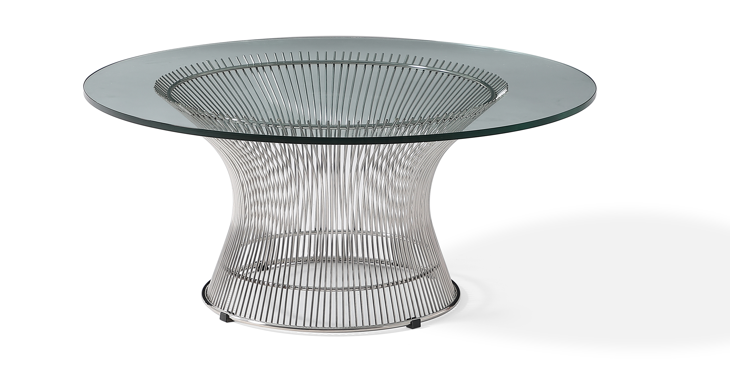 "Platner 36"" Coffee Table, Chrome"