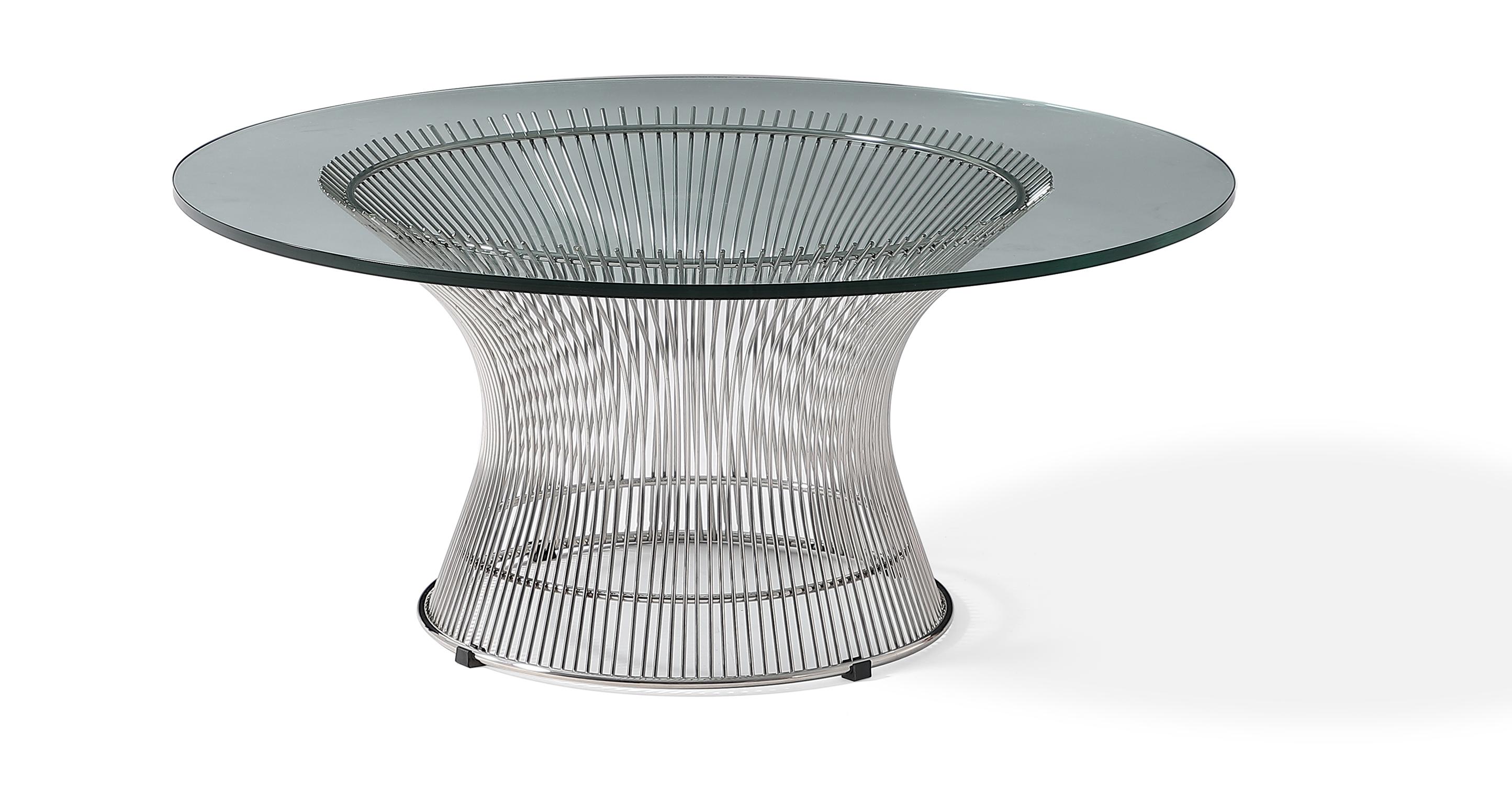 "Platner 36"" Coffee Table, Chrome"