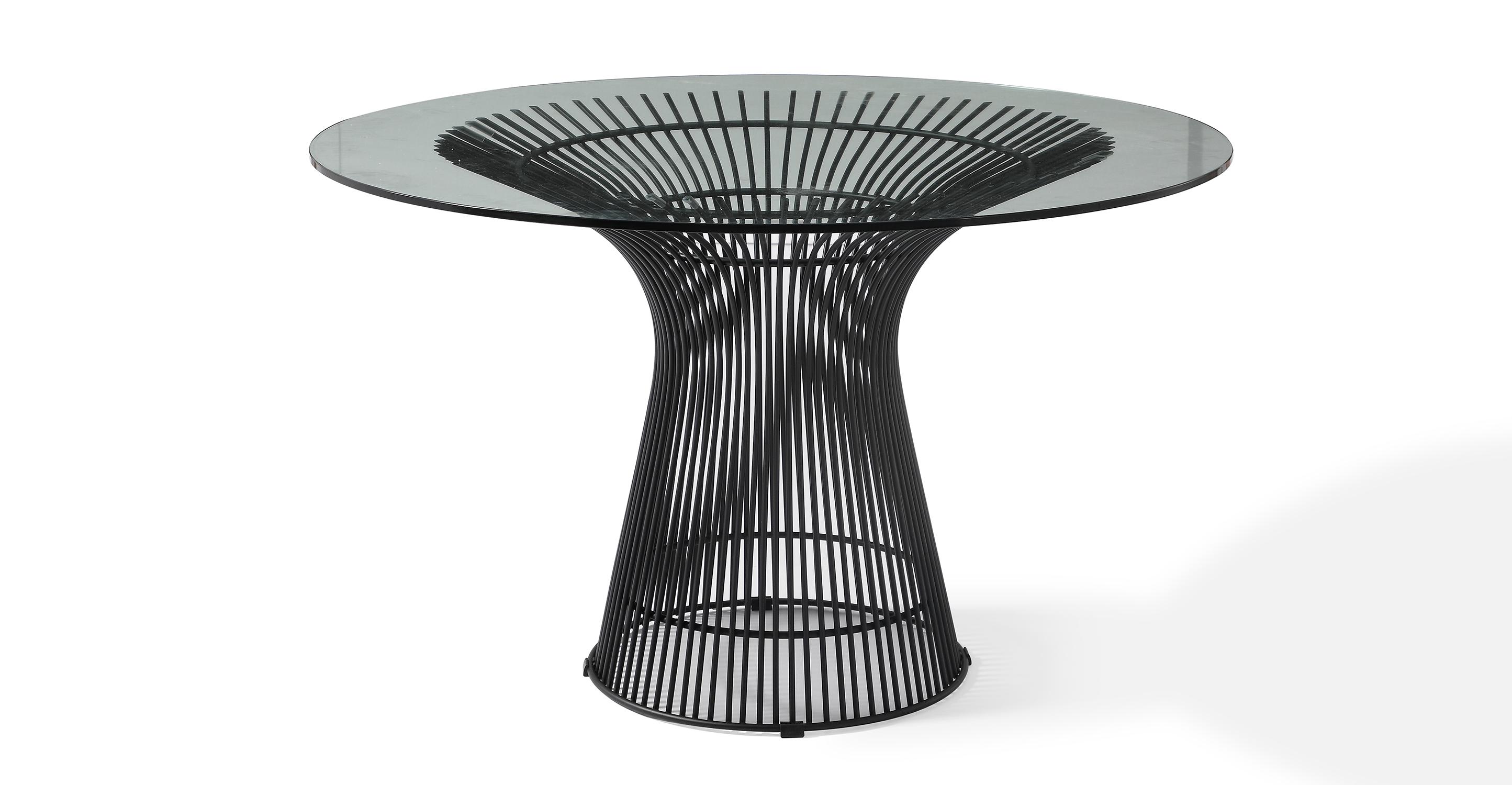 "Platner 47"" Dining Table, Black Finish"