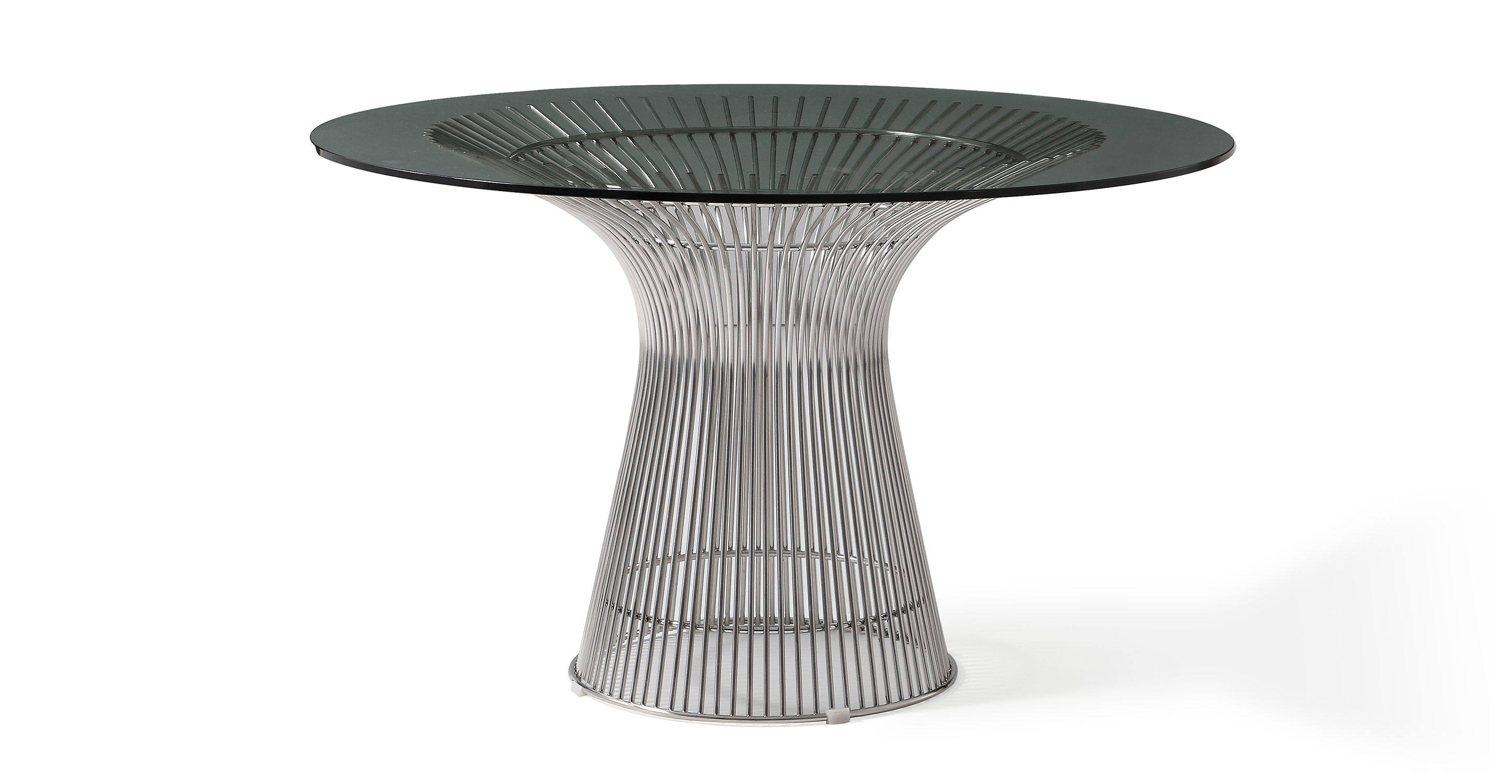 """Platner 47"""" Dining Table, Chrome"""