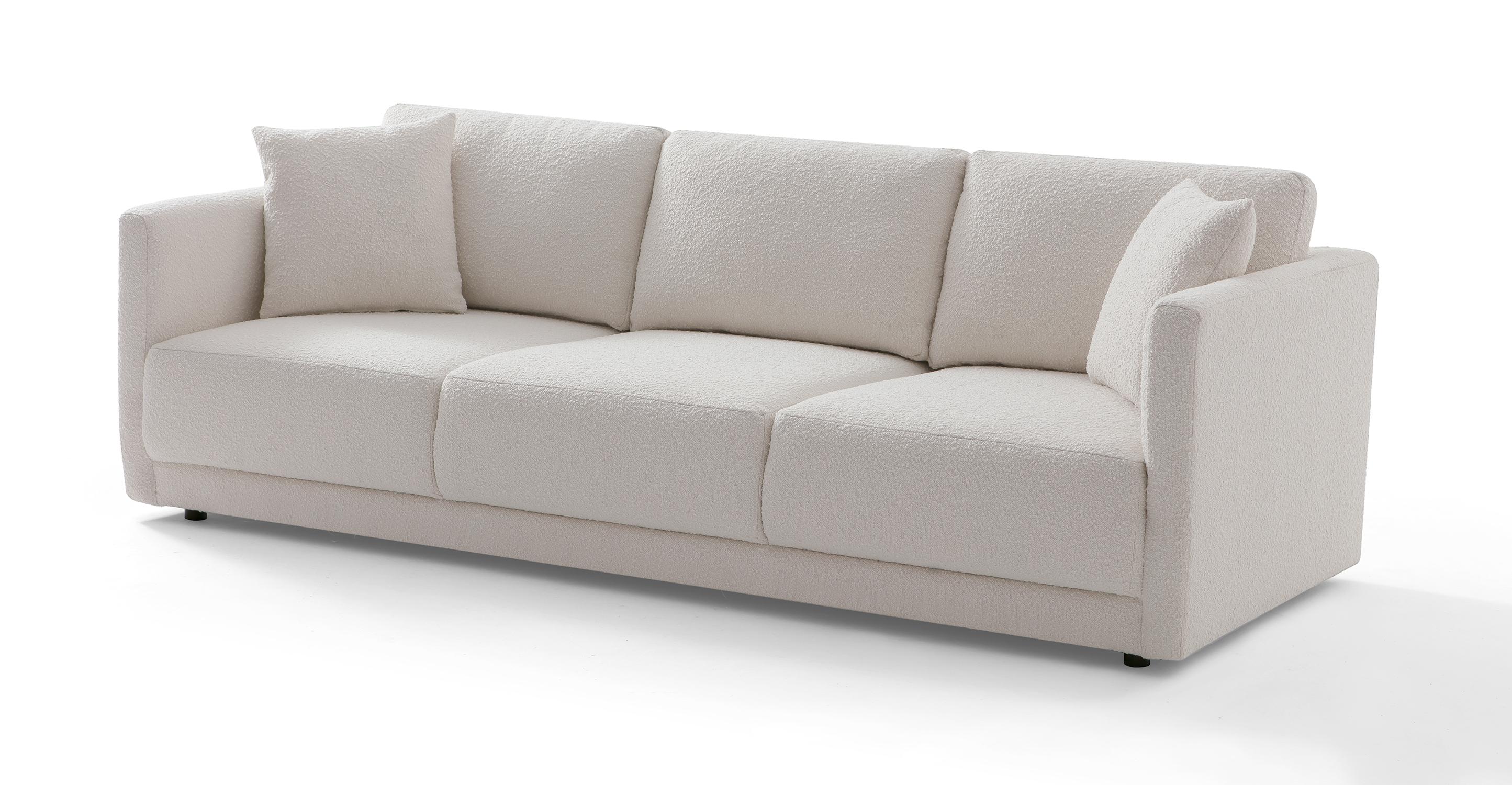 "Domus 93"" Fabric Sofa, Blanc Boucle"