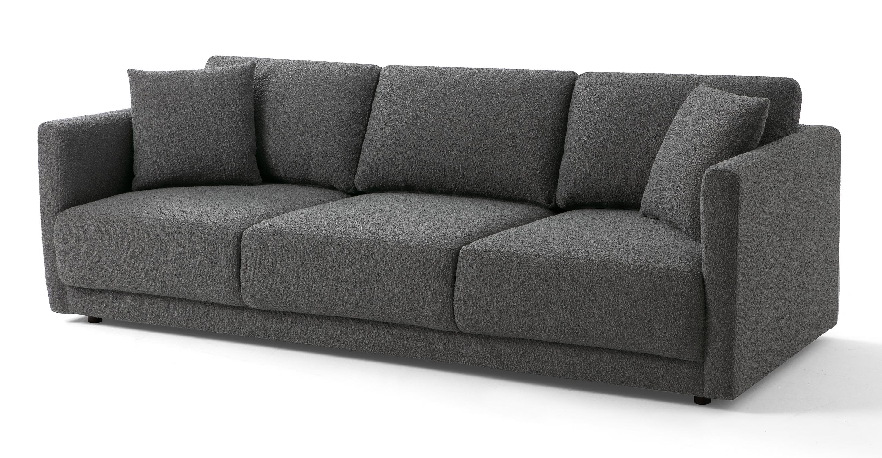 "Domus 93"" Fabric Sofa, Gris Boucle"