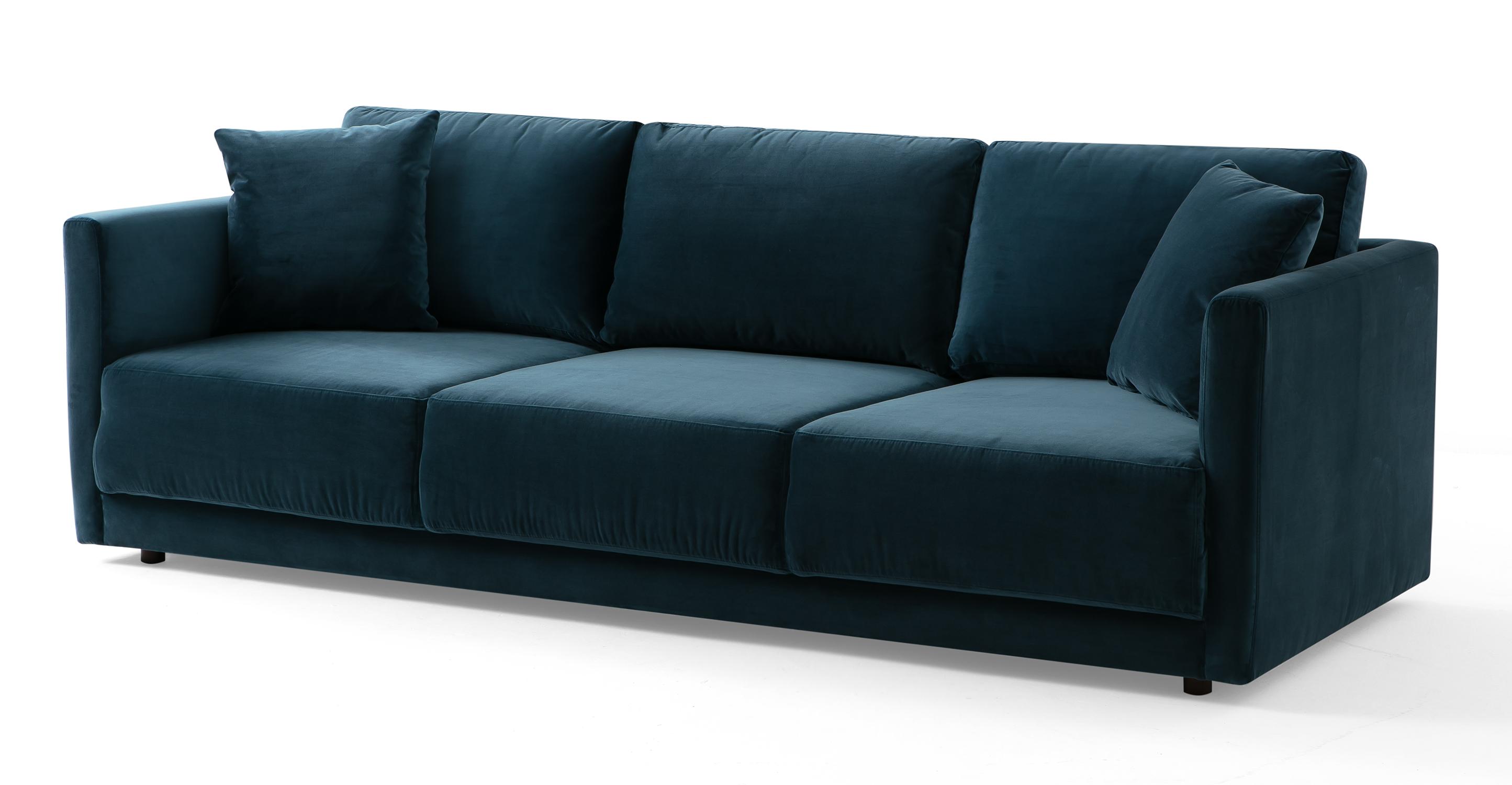 "Domus 93"" Fabric Sofa, Petrol Velvet"