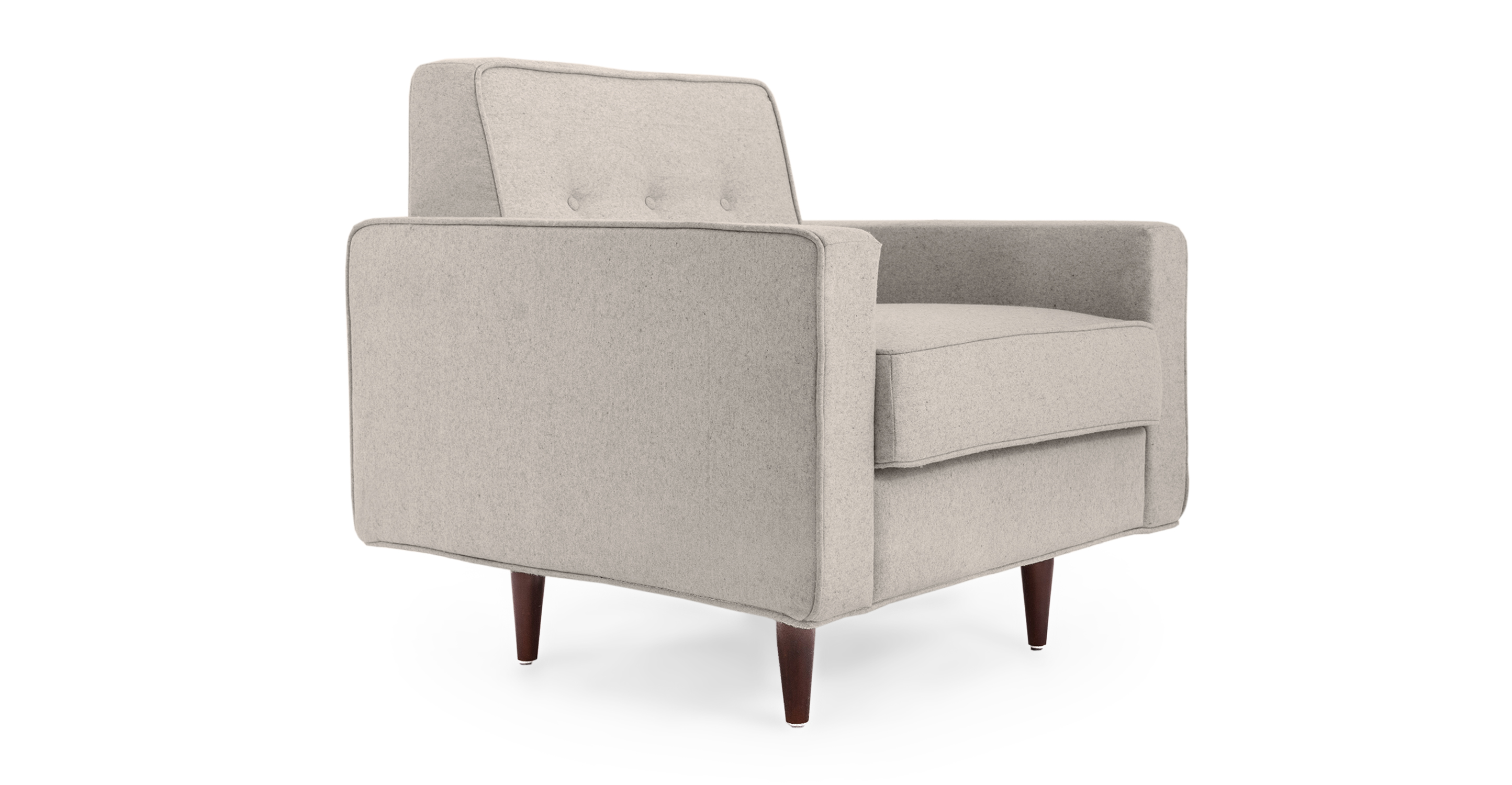 "Eleanor 36"" Fabric Chair, Heather"