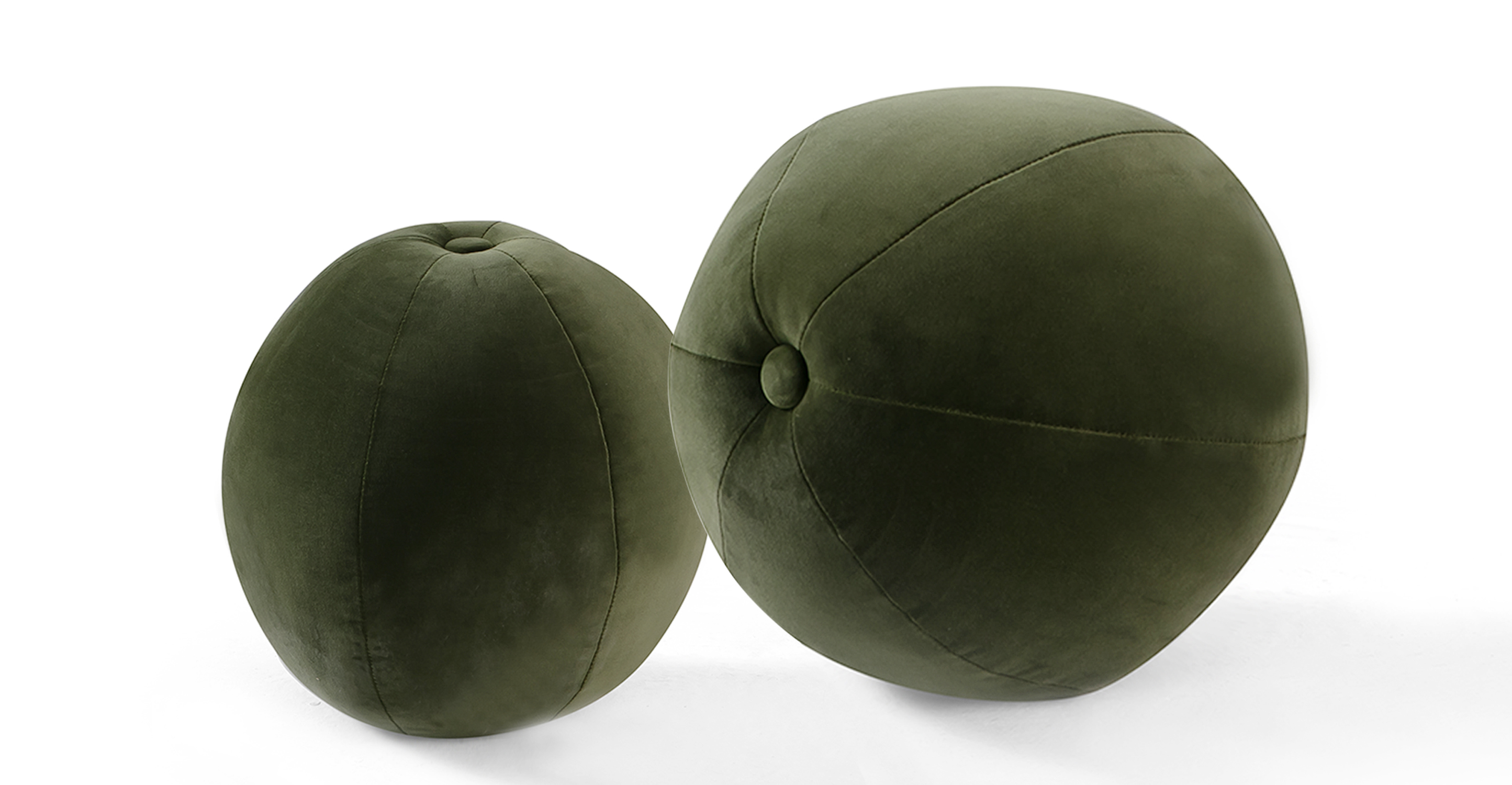 Mid-Century 2-Pc Orb Pillows, Fern Velvet