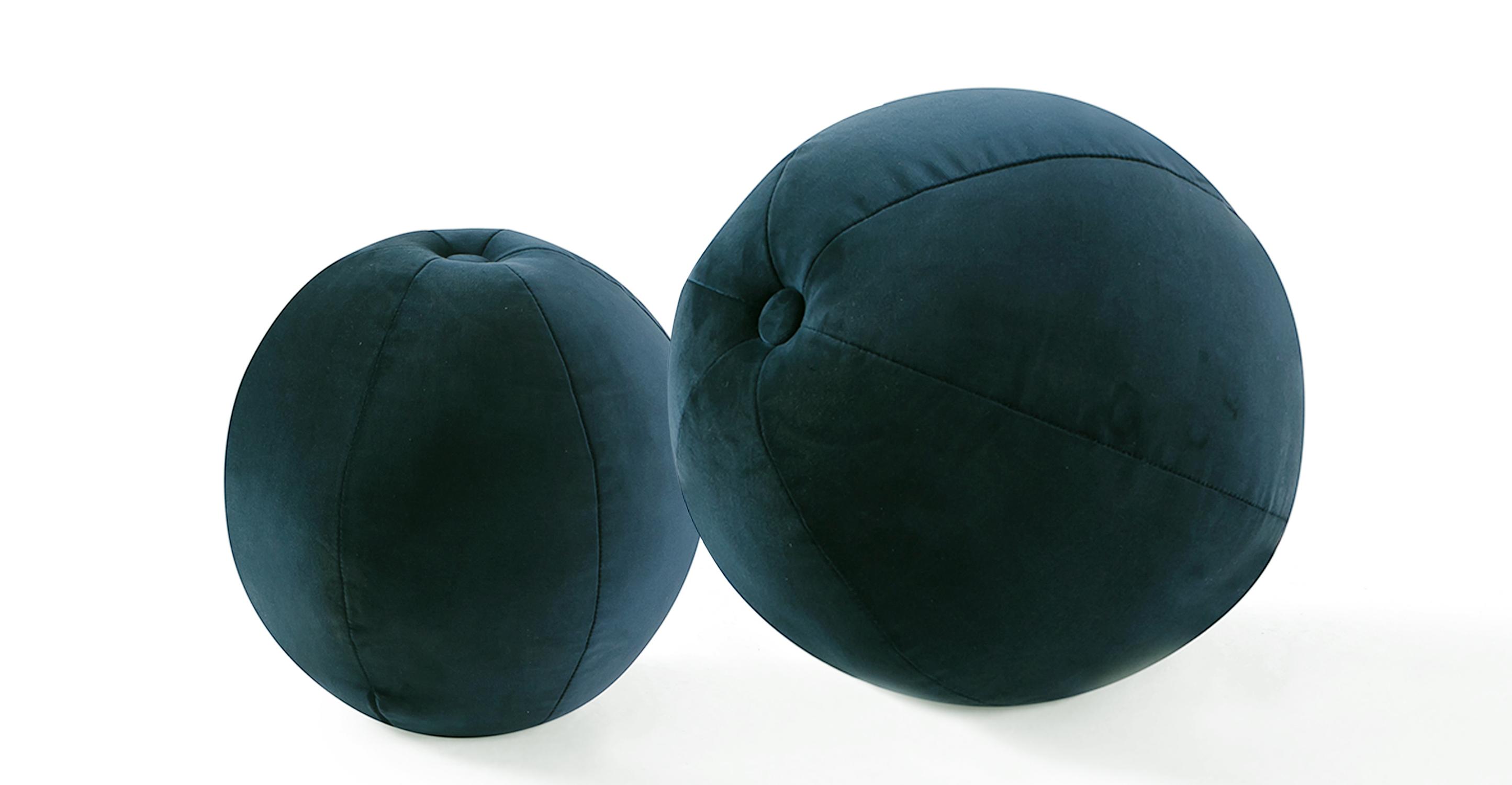 Mid-Century 2-Pc Orb Pillows, Petrol Velvet