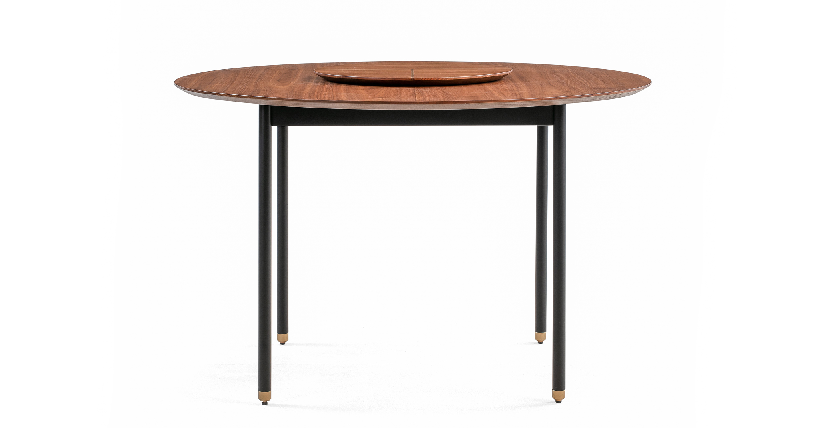 "Urbane 47"" Round Dining Table, Walnut"