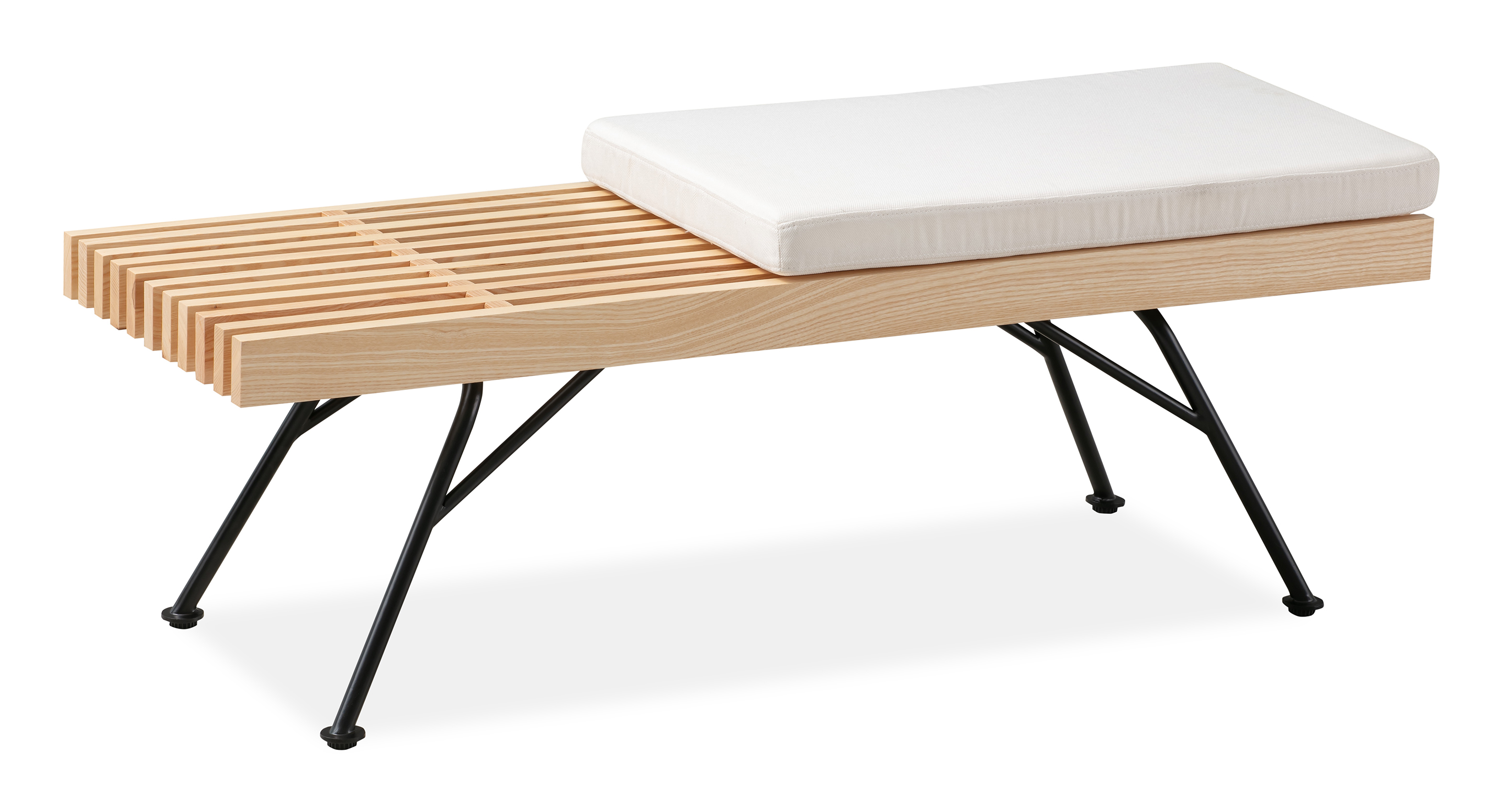 "Wright 48"" Slat Bench, Natural Ash"