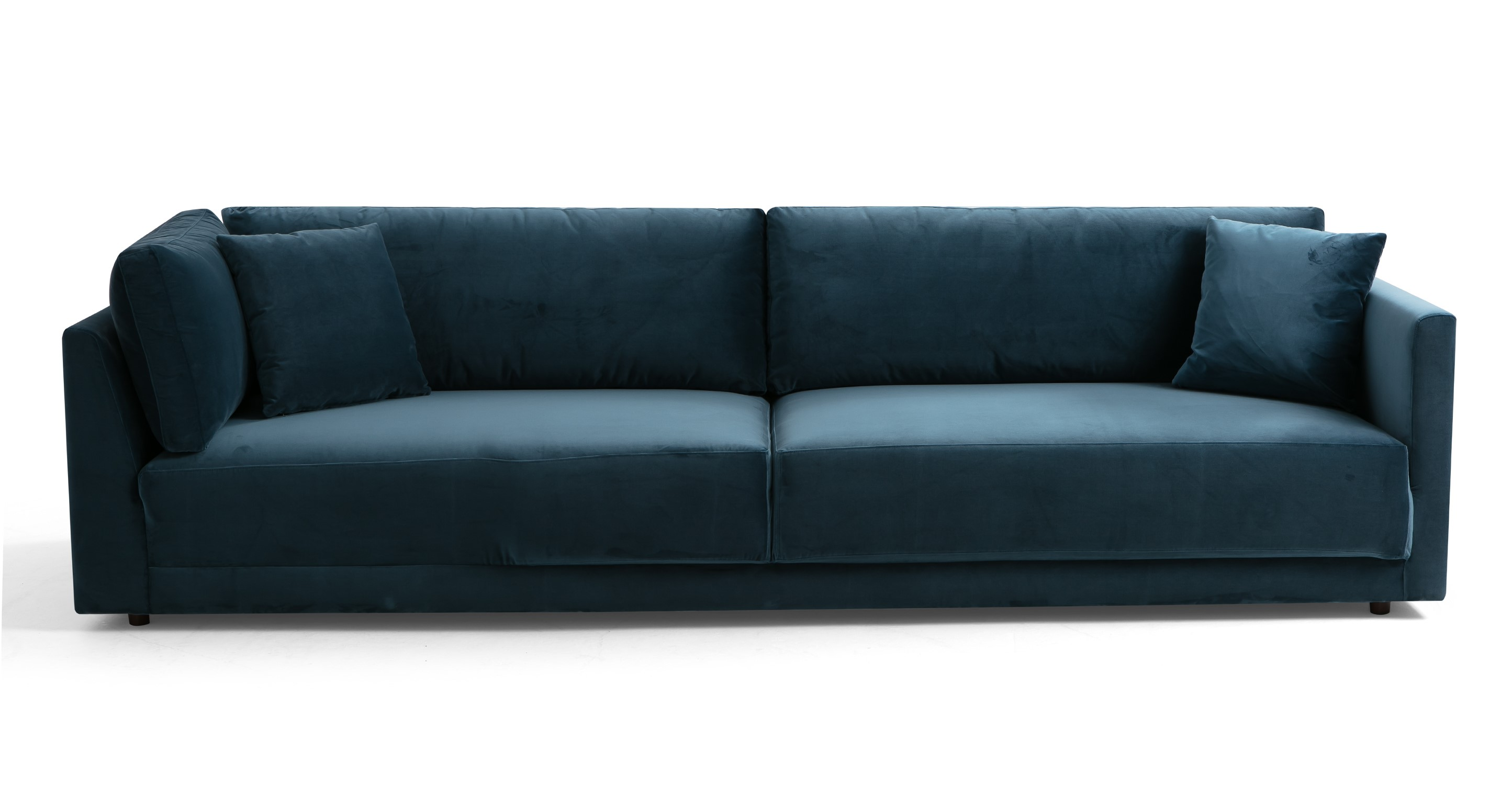 "Domus 114"" Fabric Sofa Lounge Arm Left, Petrol Velvet"