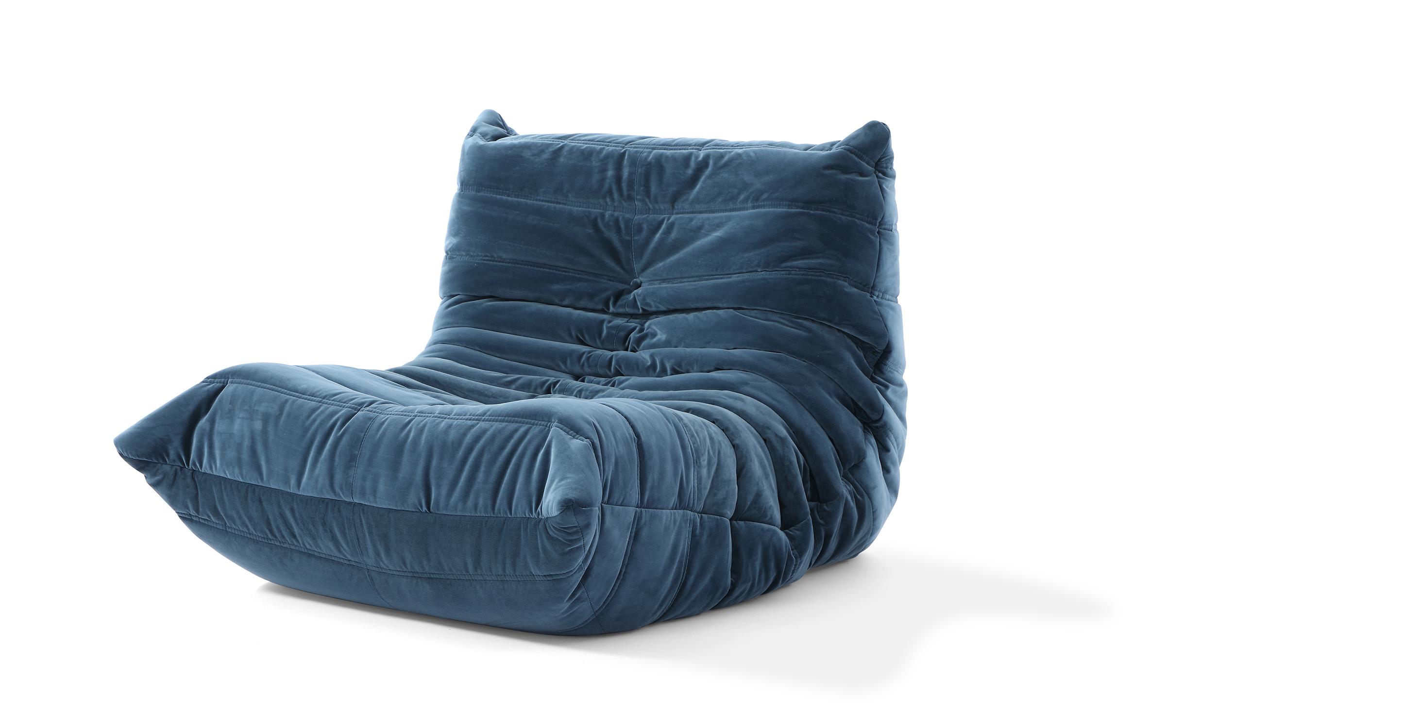 """Louvre 35"""" Fabric Chair, Petrol Velvet"""
