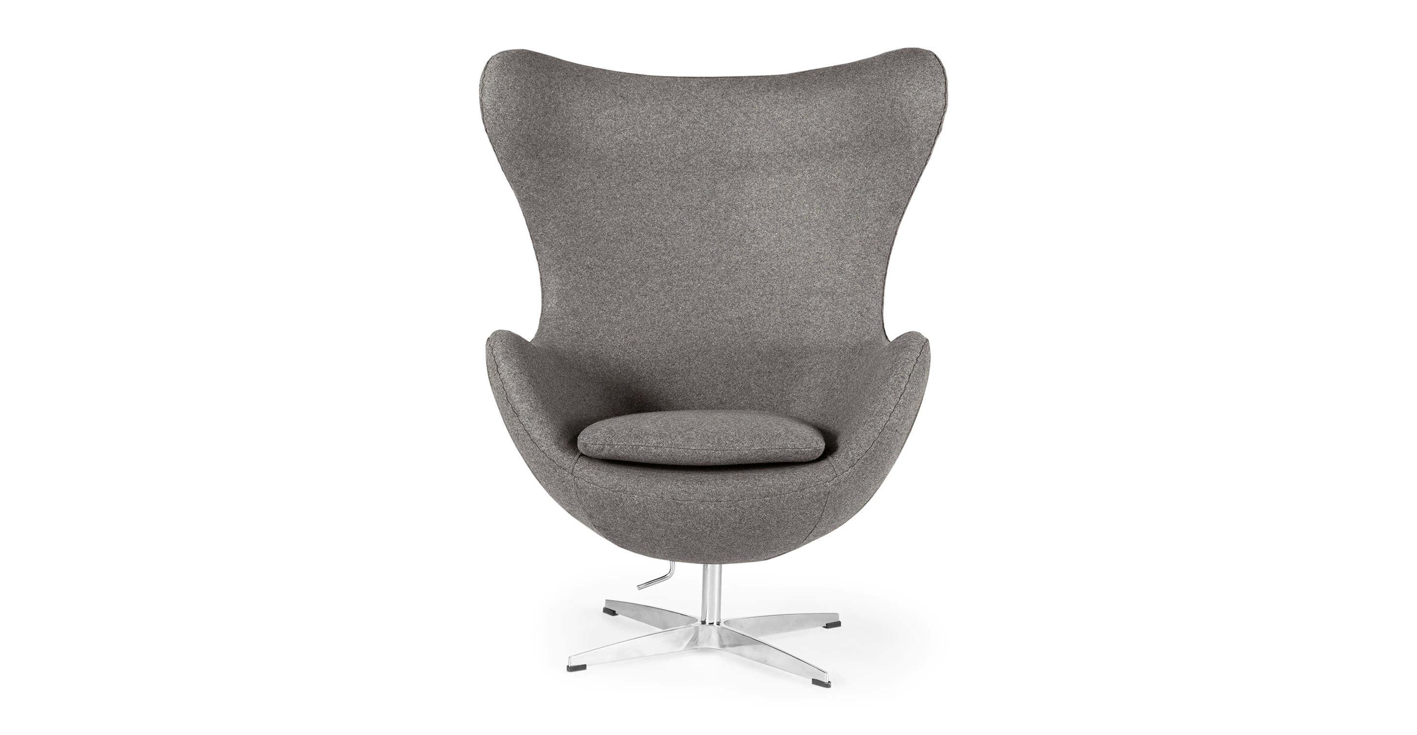 "Amoeba 35"" Swivel Fabric Chair, Bocce Boucle"