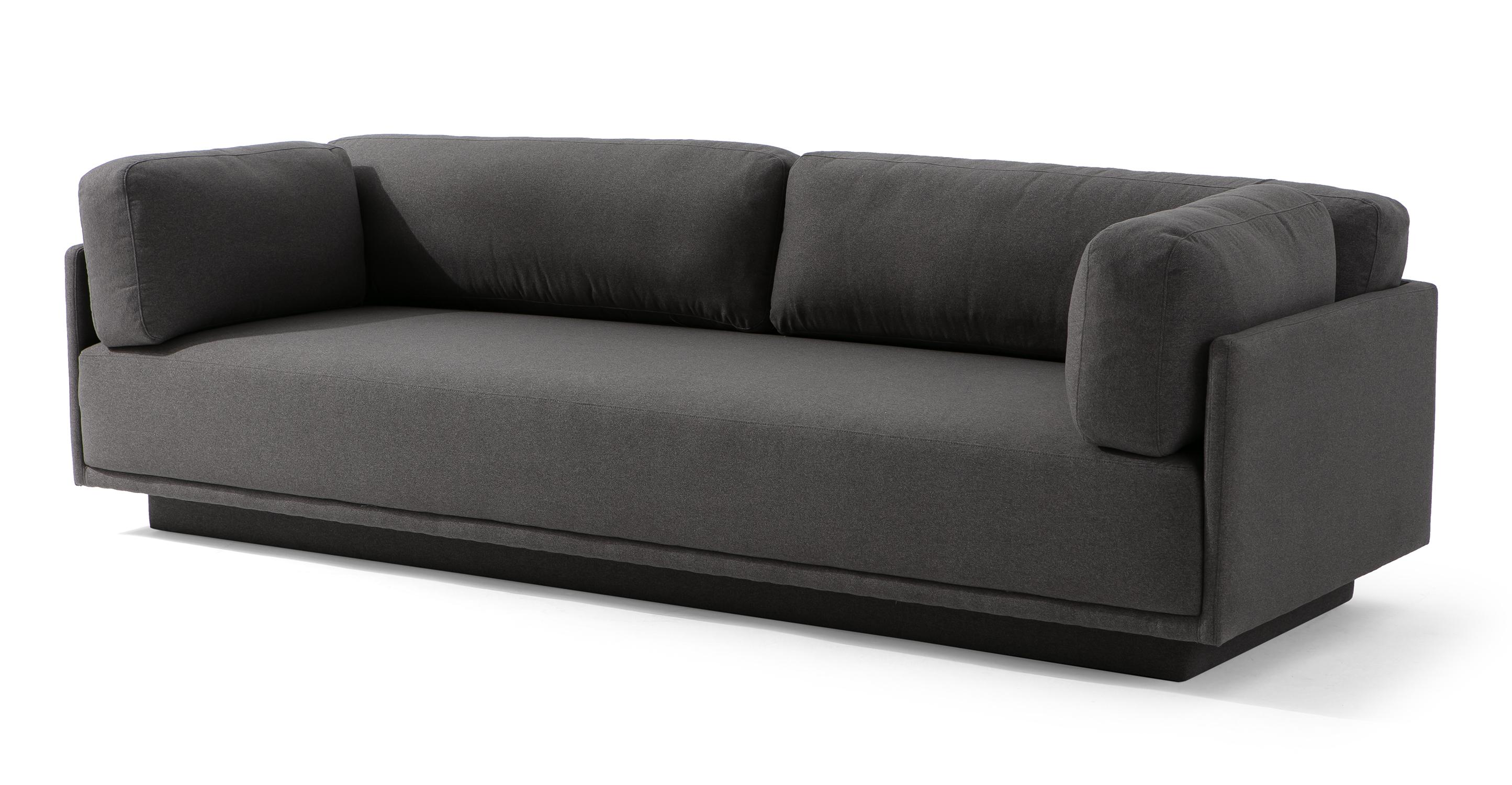 "Cribb XL 102"" Fabric Sofa, Timberwolf"