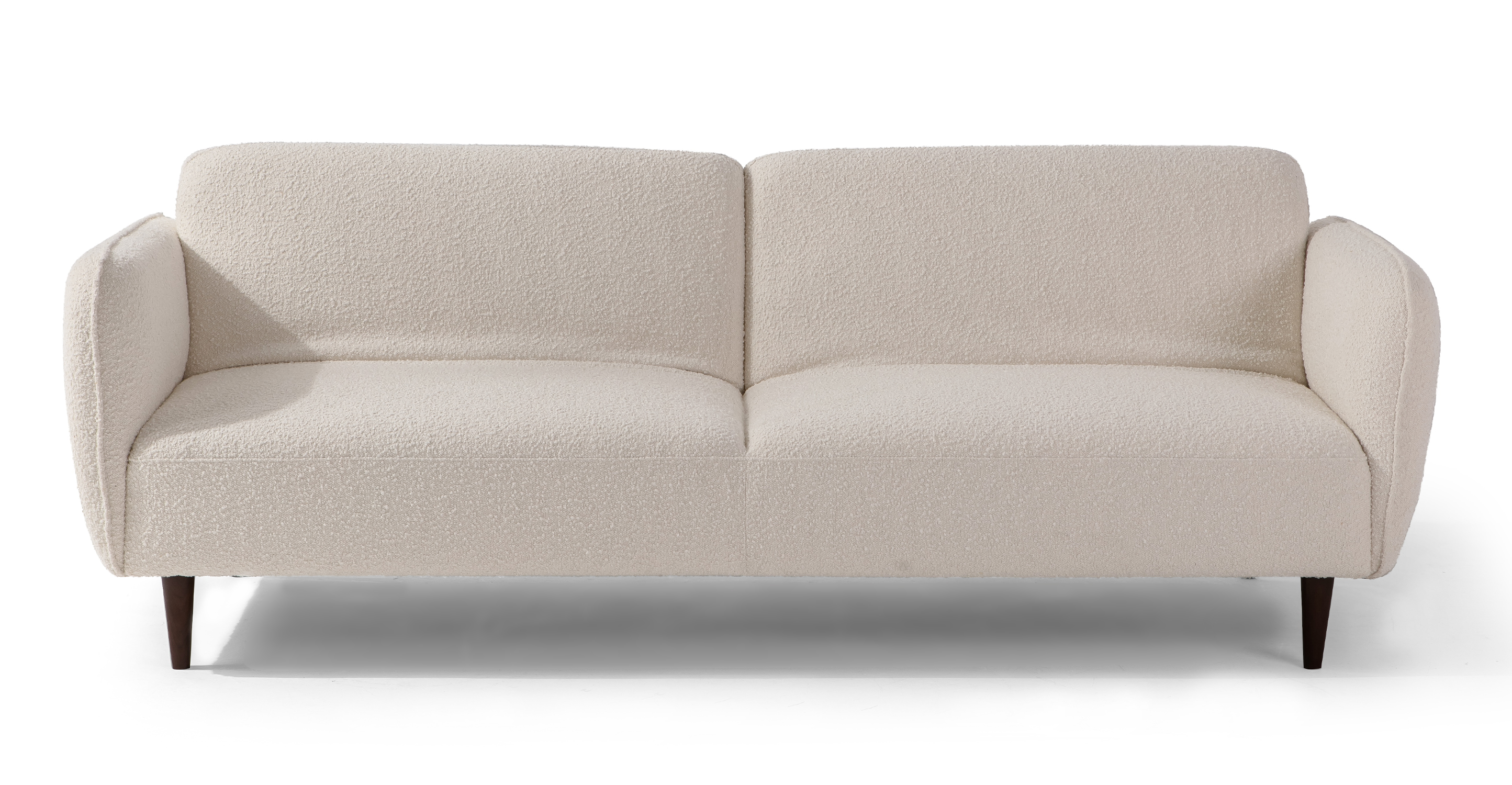 "Omer 88"" Fabric Sofa Sleeper, Blanc Boucle"
