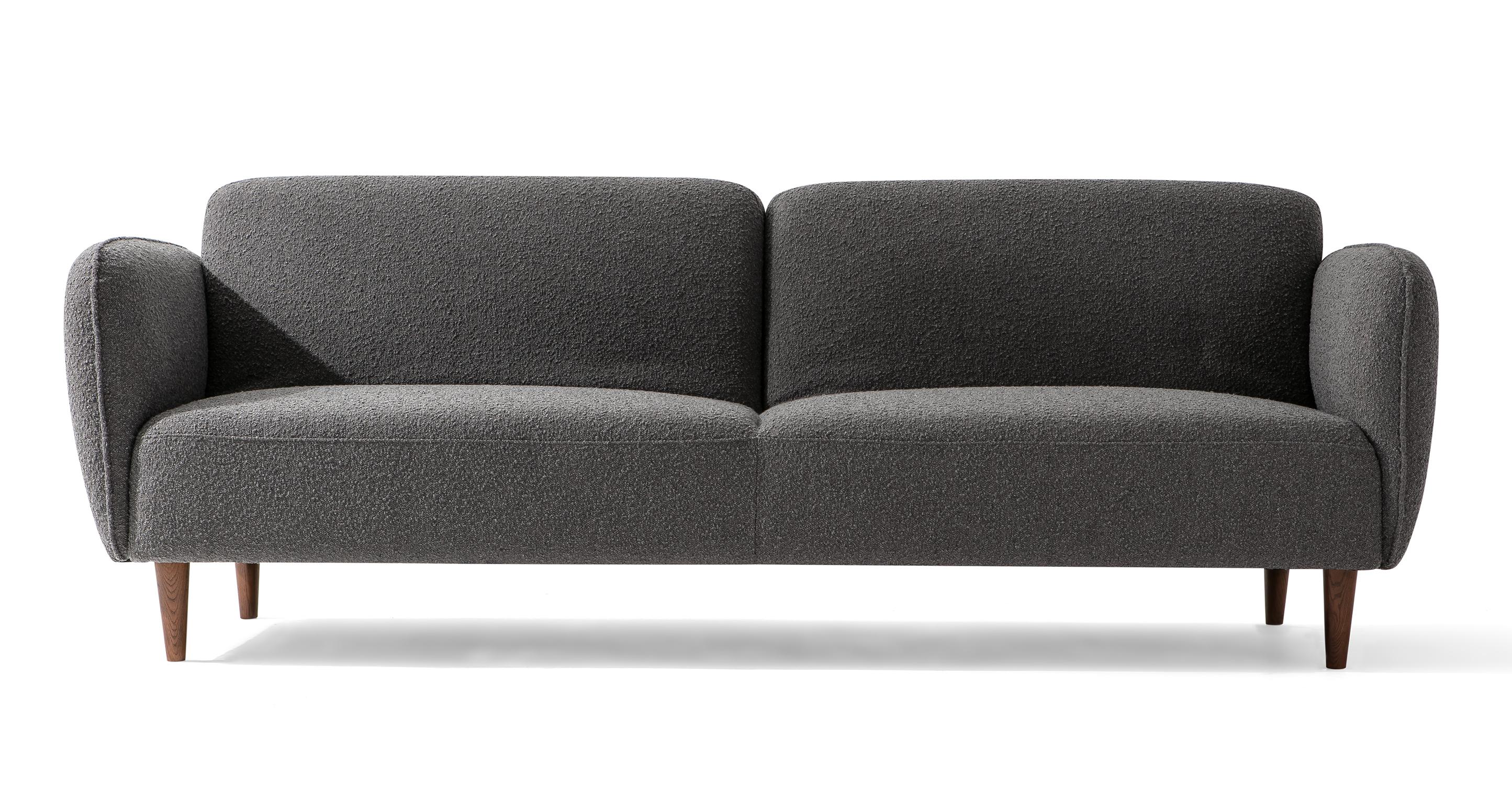 "Omer 88"" Fabric Sofa Sleeper, Gris Boucle"
