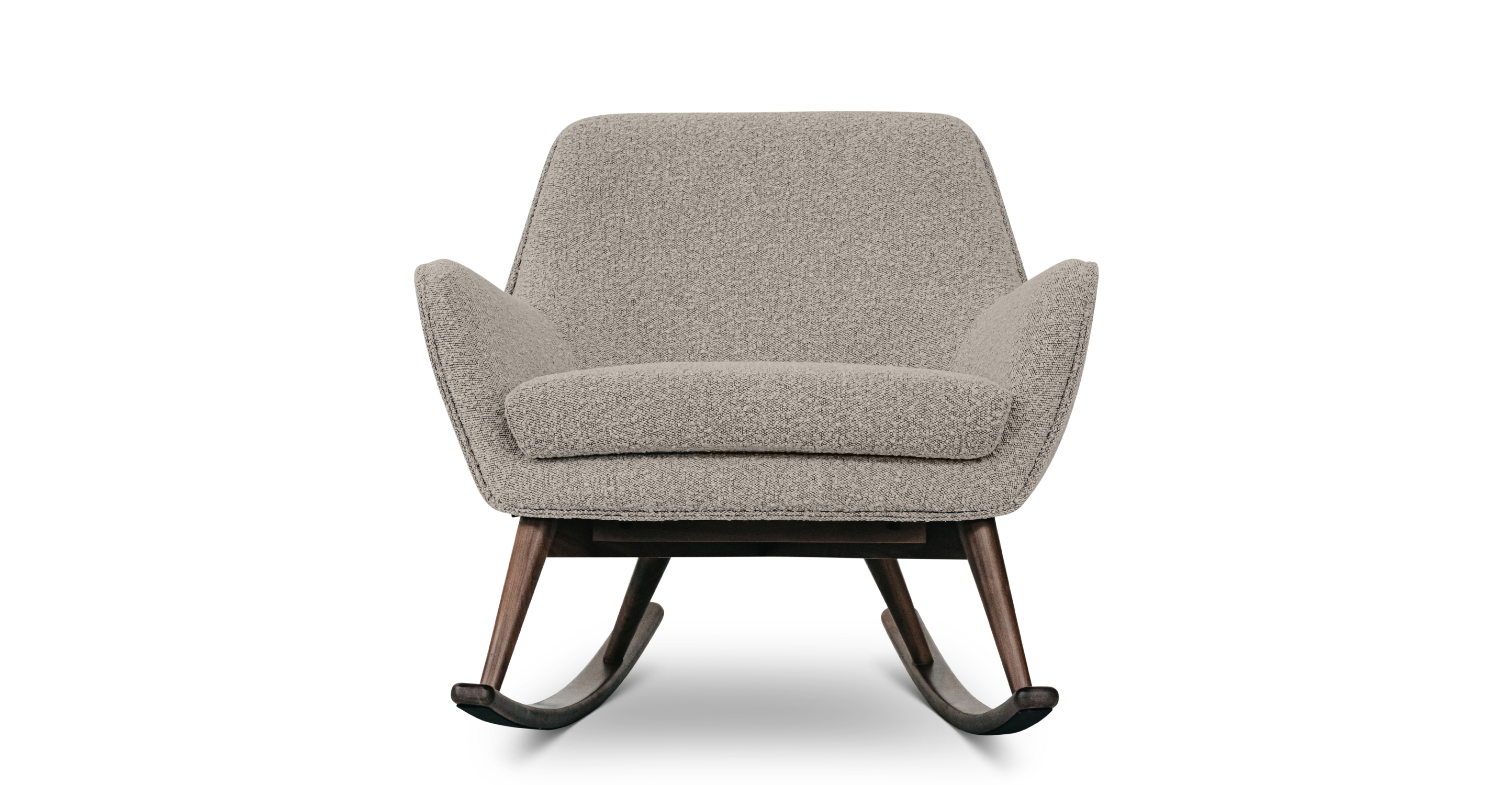 """Lullaby 31"""" Fabric Rocking Chair, Bocce Boucle"""