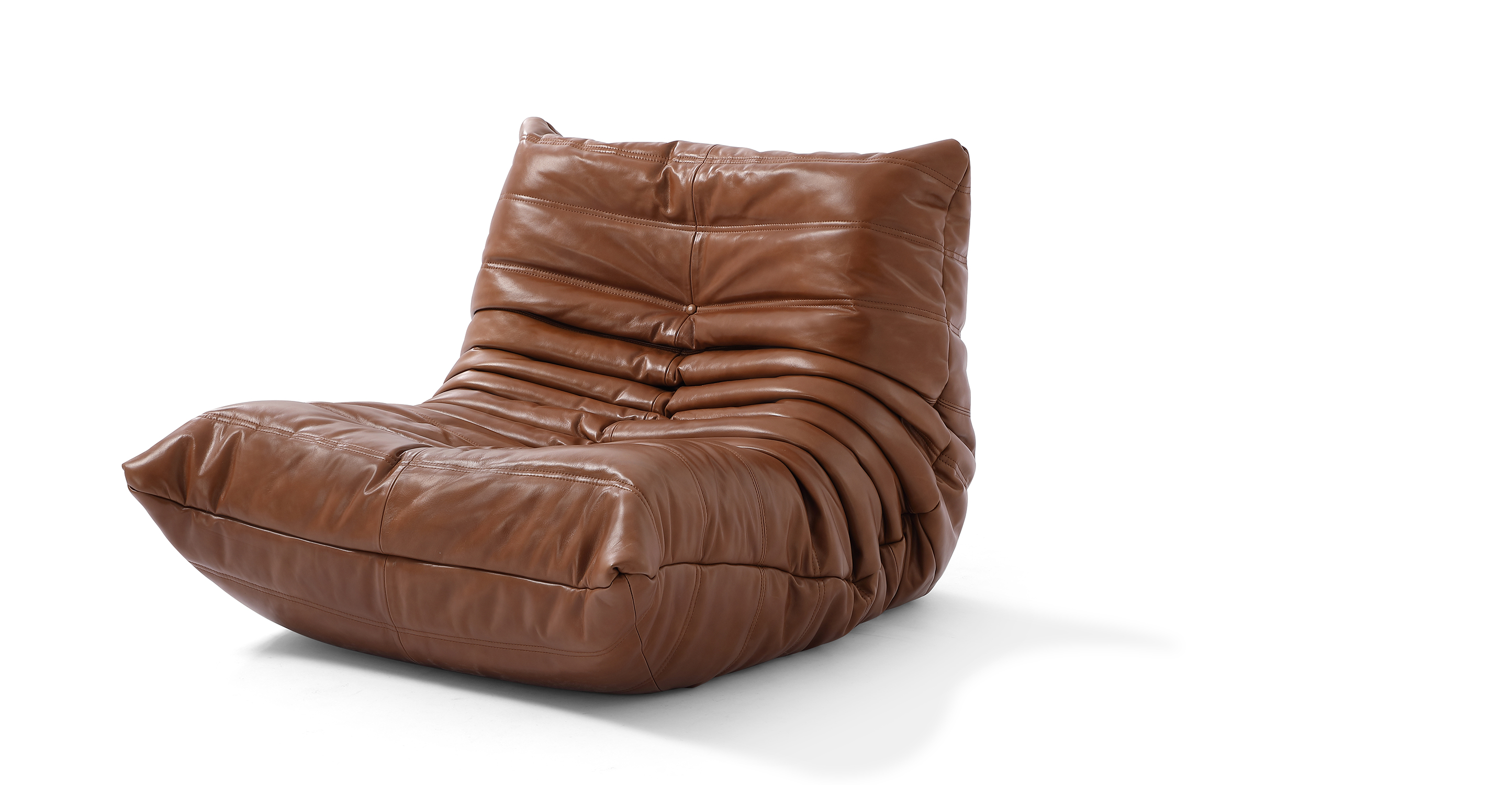 """Louvre 35"""" Leather Chair, Saddle"""