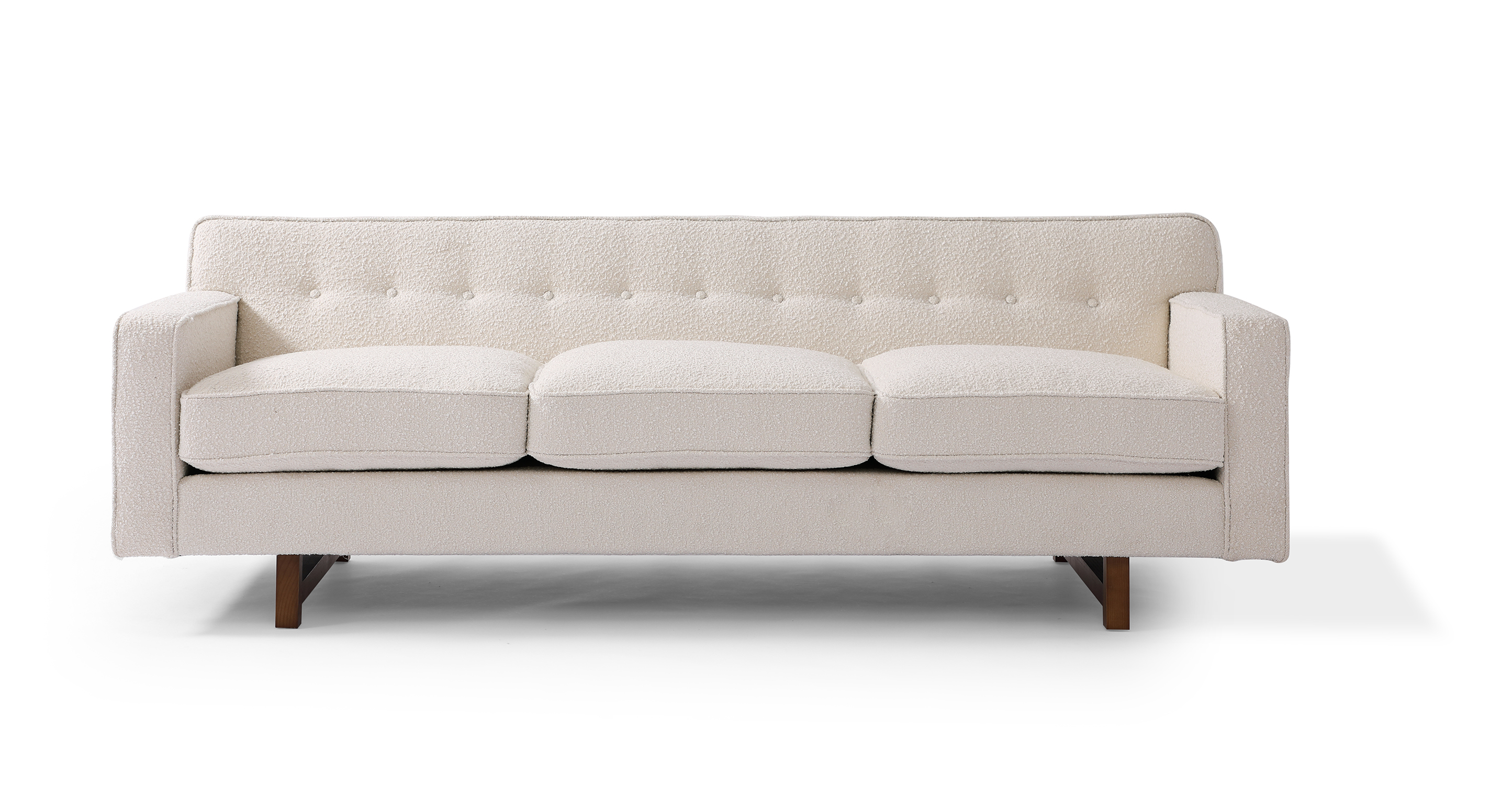 "Kennedy 86"" Fabric Sofa, Blanc Boucle"